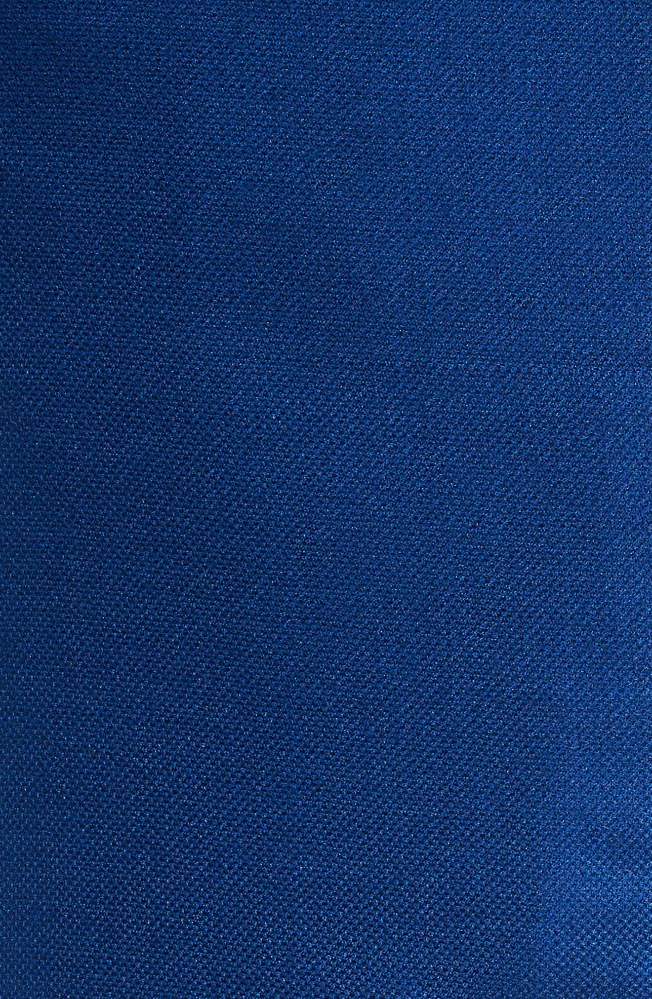 Trim Fit Cashmere & Silk Blazer,                             Alternate thumbnail 5, color,                             Blue