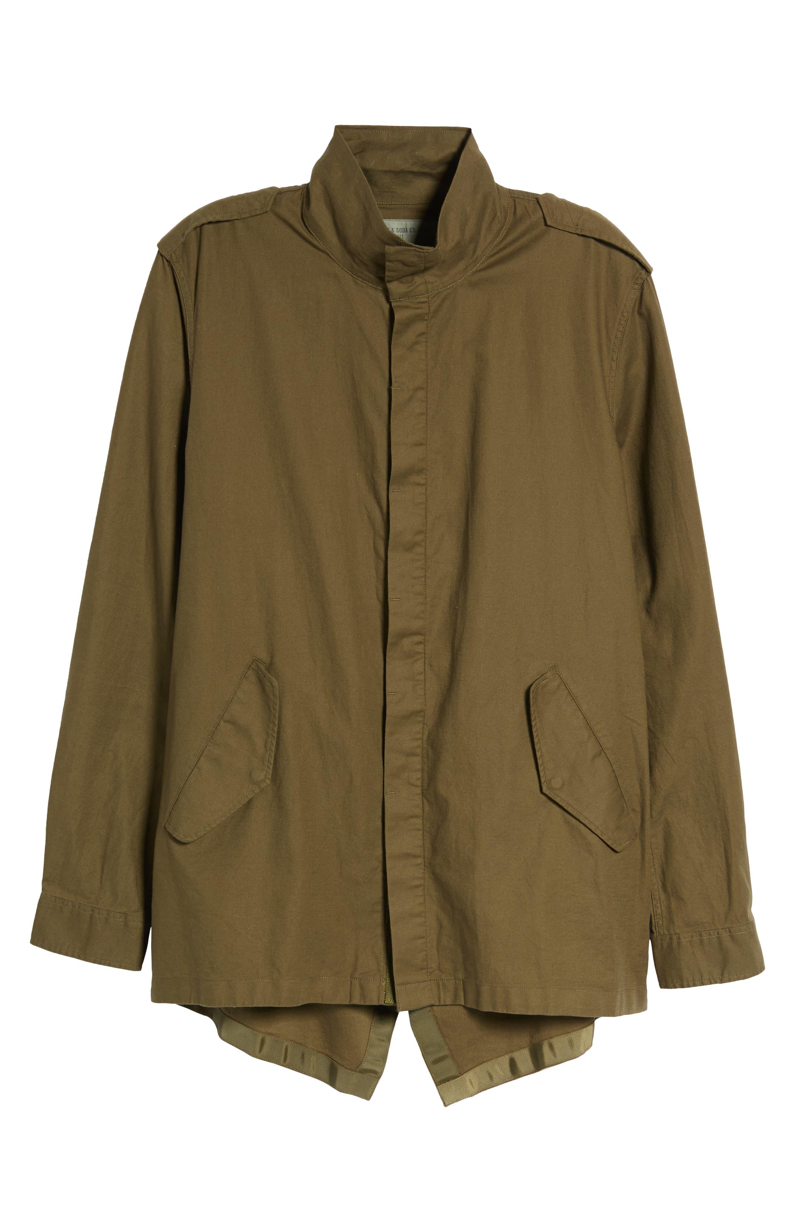 Shirt Jacket Parka,                             Alternate thumbnail 6, color,                             Army