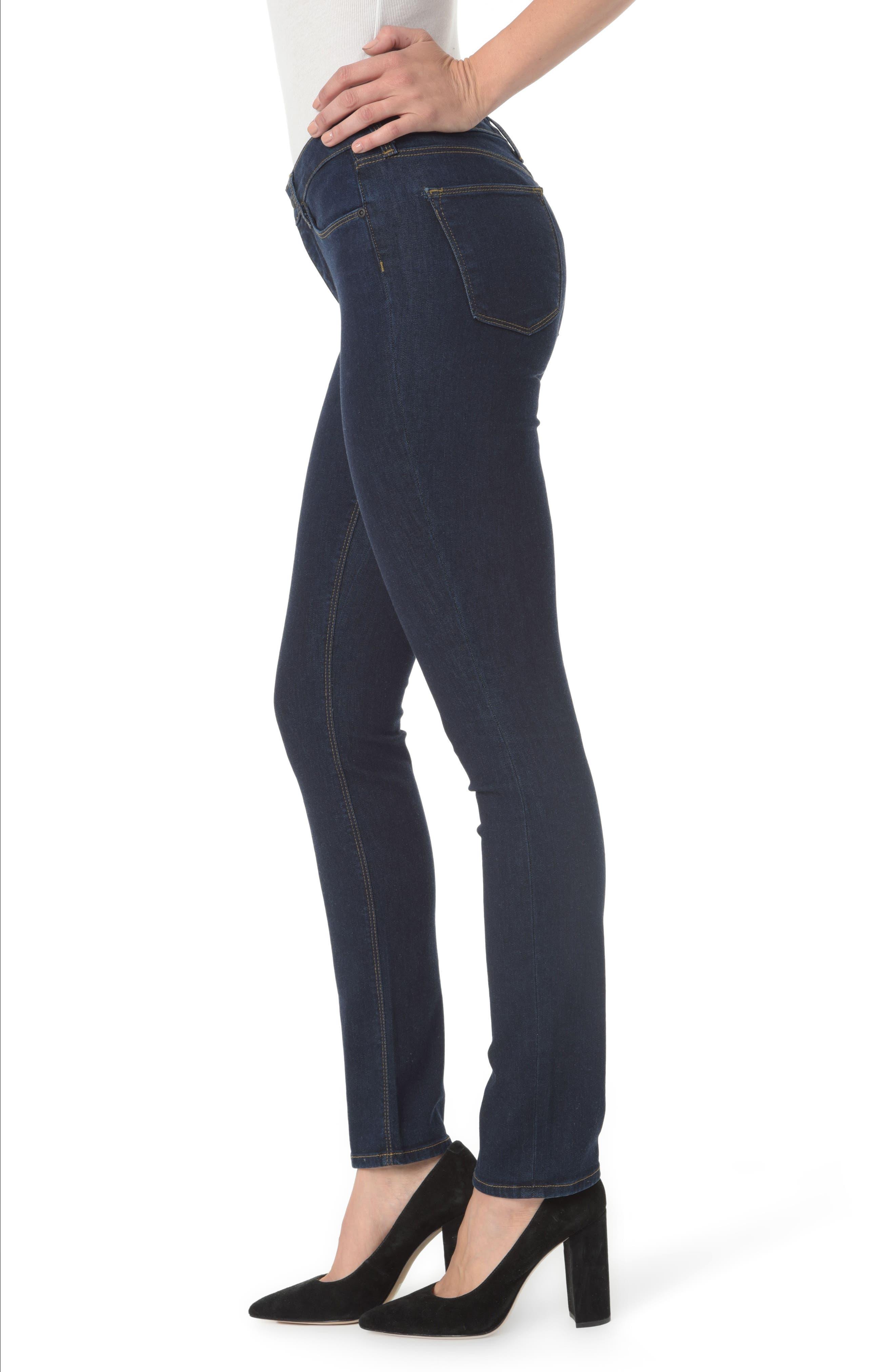Marilyn Straight Leg Jeans,                             Alternate thumbnail 3, color,                             Rinse
