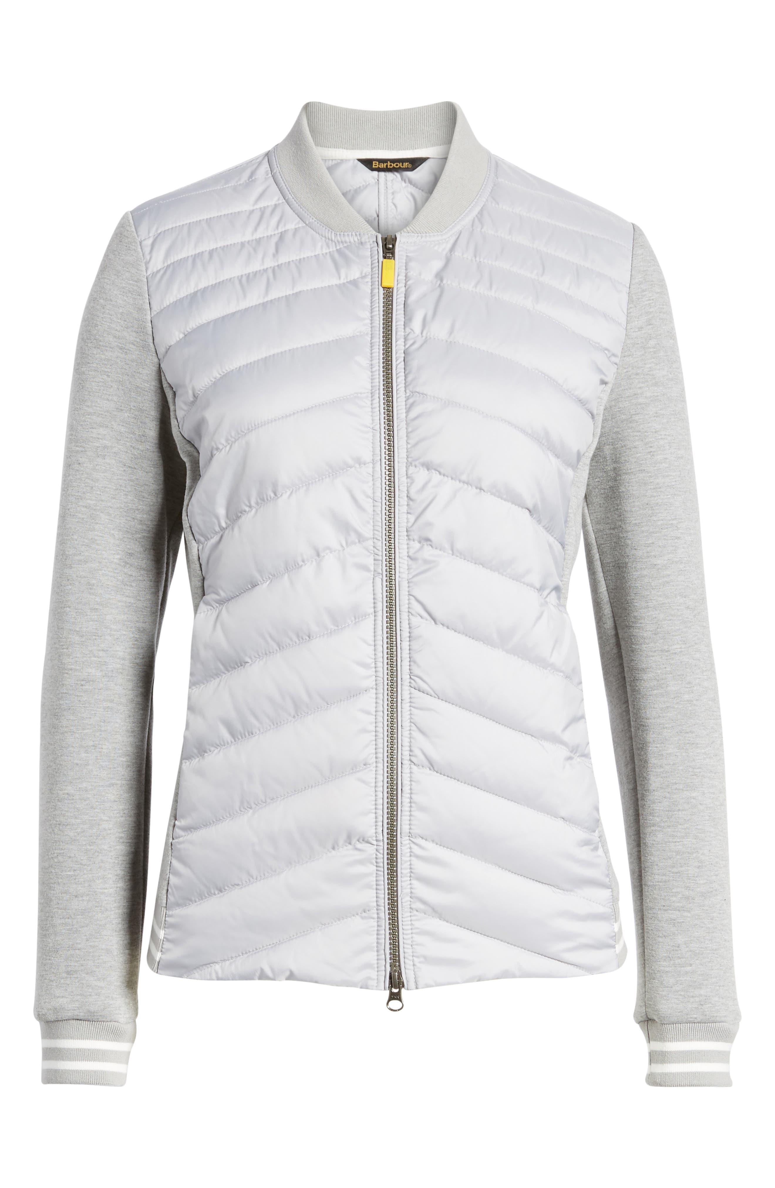 Pembrey Sweatshirt Jacket,                             Alternate thumbnail 6, color,                             Ice White