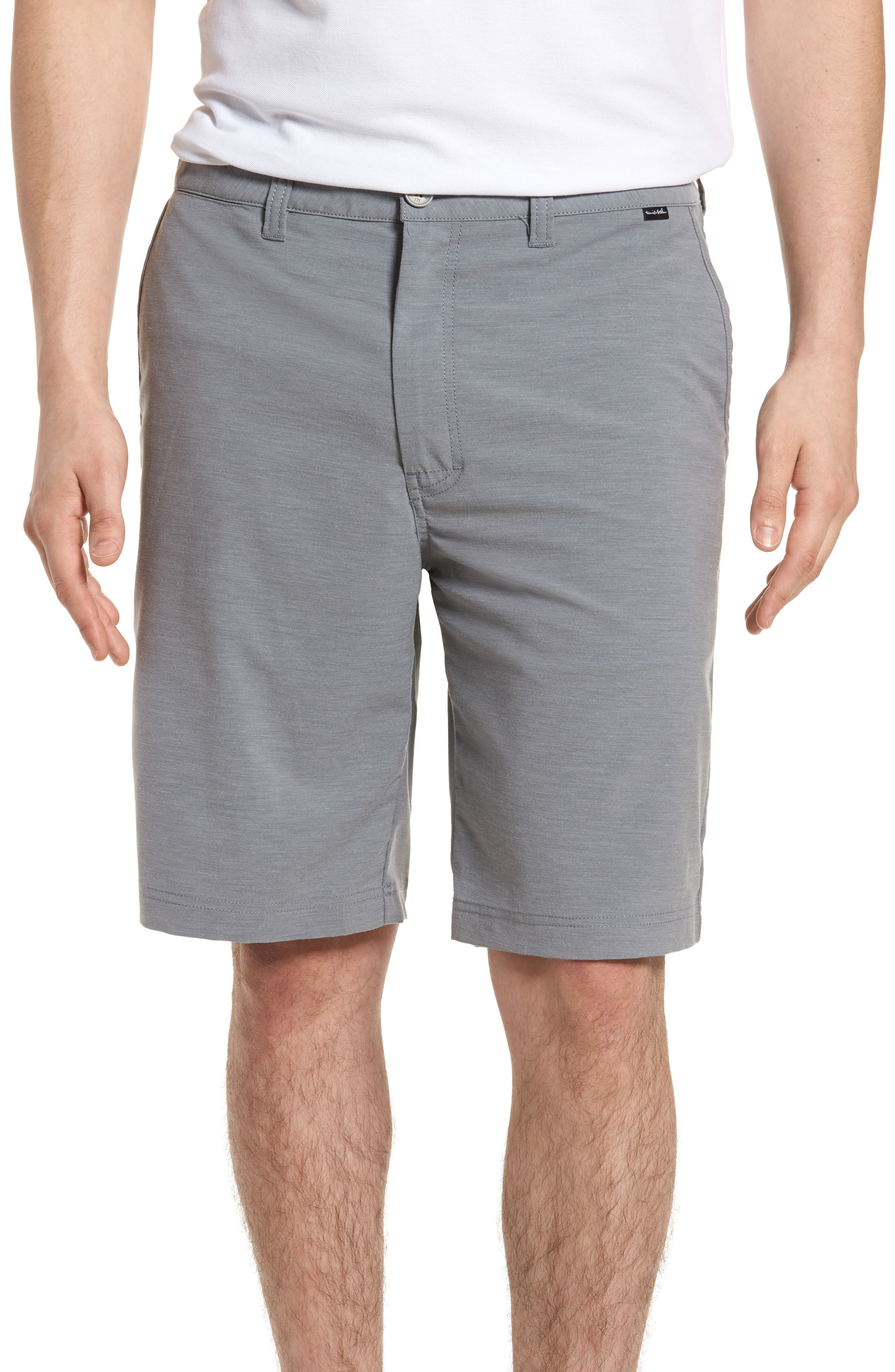 La Paz Regular Fit Slub Knit Shorts,                             Main thumbnail 1, color,                             Sharkskin
