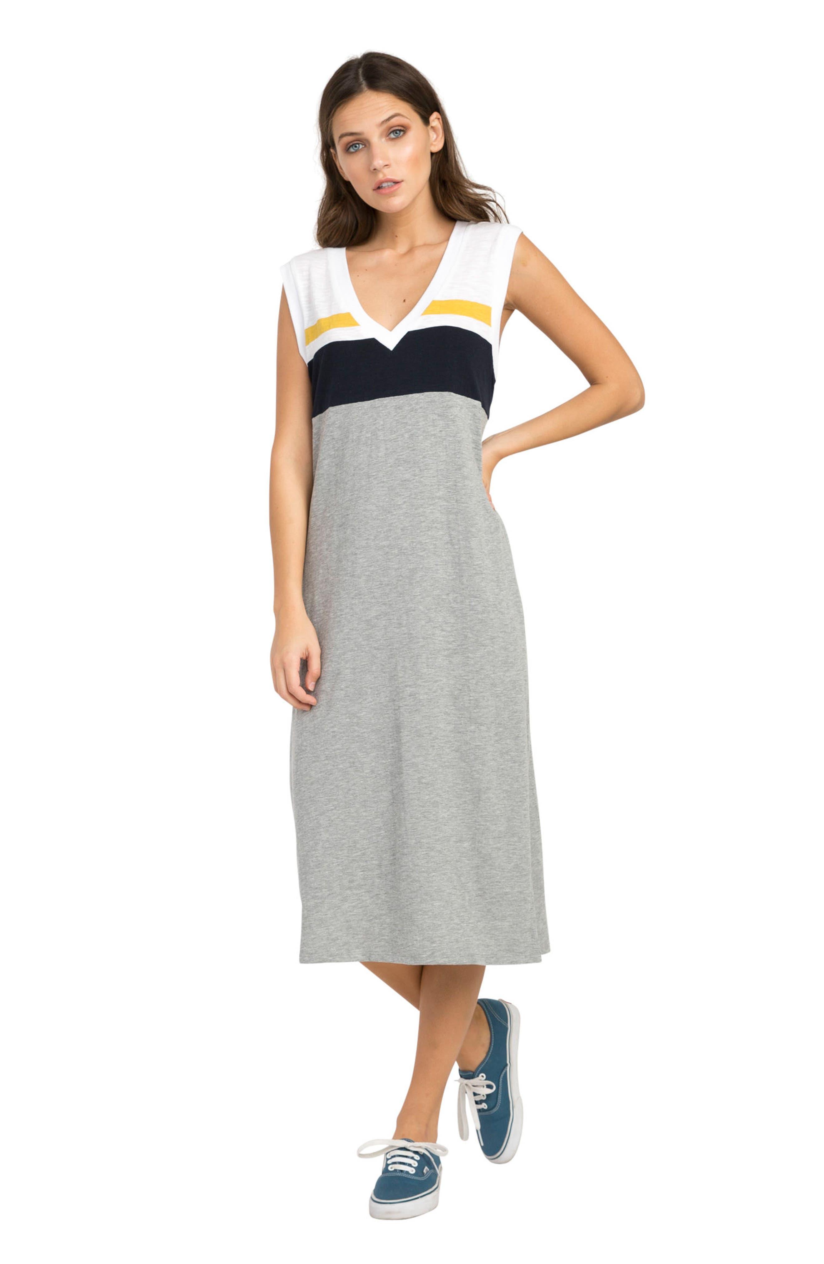 Scorekeeper Midi Dress,                             Alternate thumbnail 2, color,                             Heather Grey