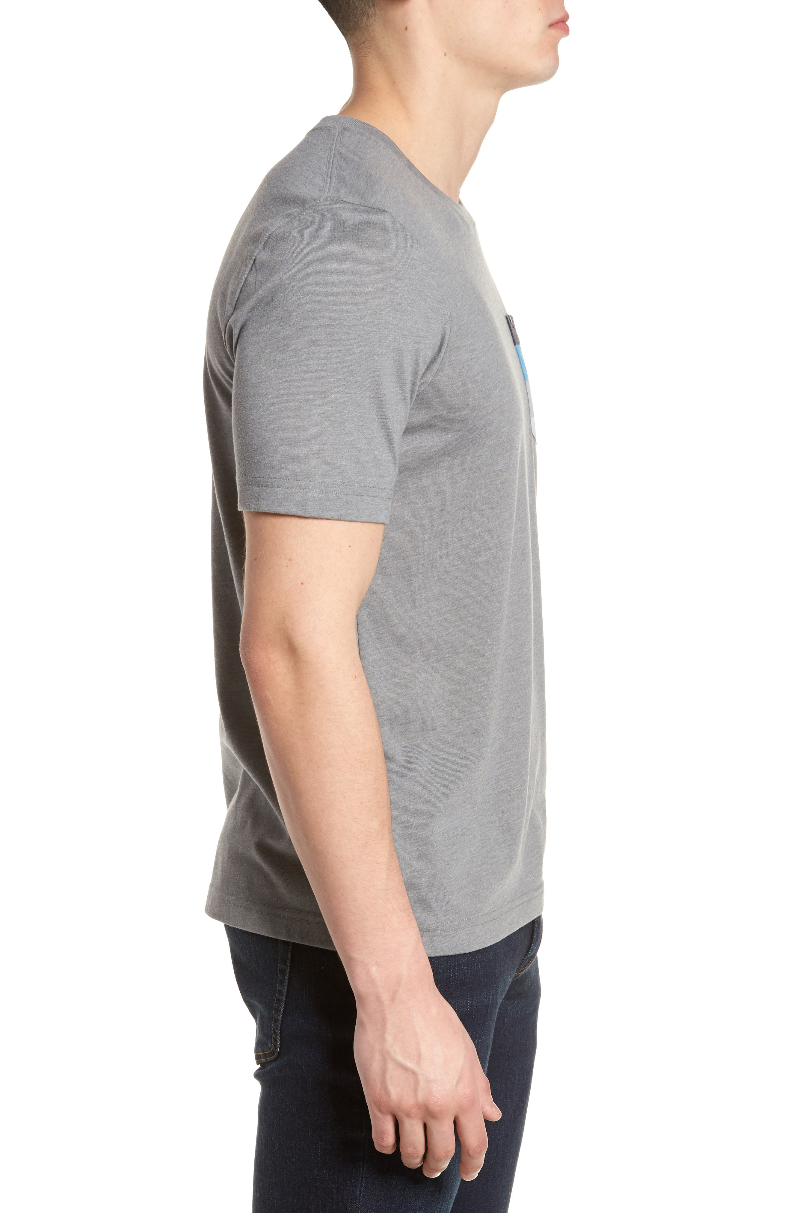 Chappy Doo Pocket T-Shirt,                             Alternate thumbnail 3, color,                             Heather Grey
