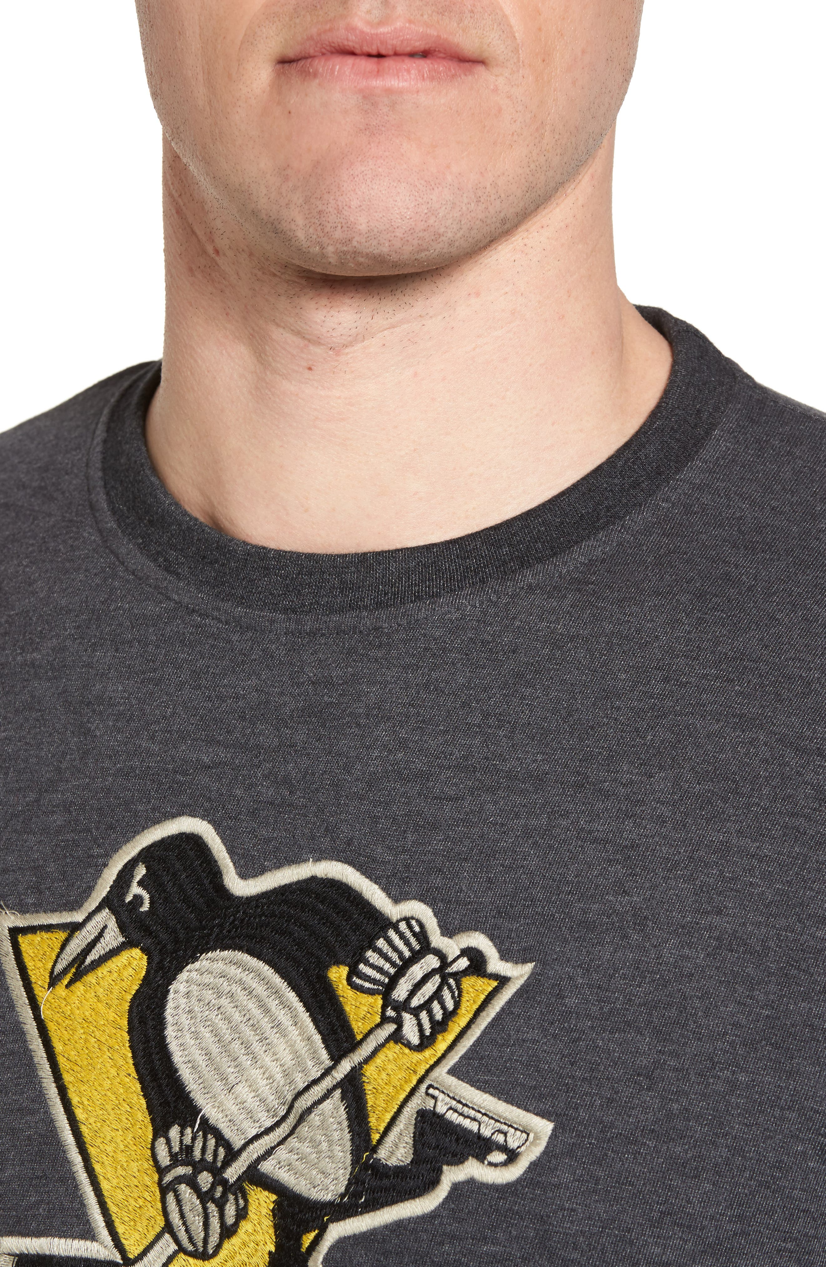 Hillwood Penguins T-Shirt,                             Alternate thumbnail 4, color,                             Heather Black