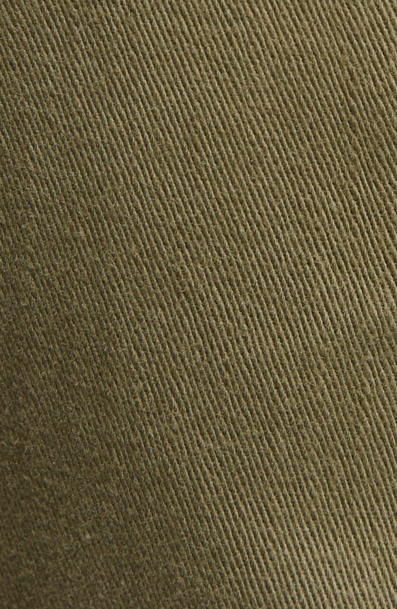 Laced Cotton & Linen Shorts,                             Alternate thumbnail 7, color,                             Kaki