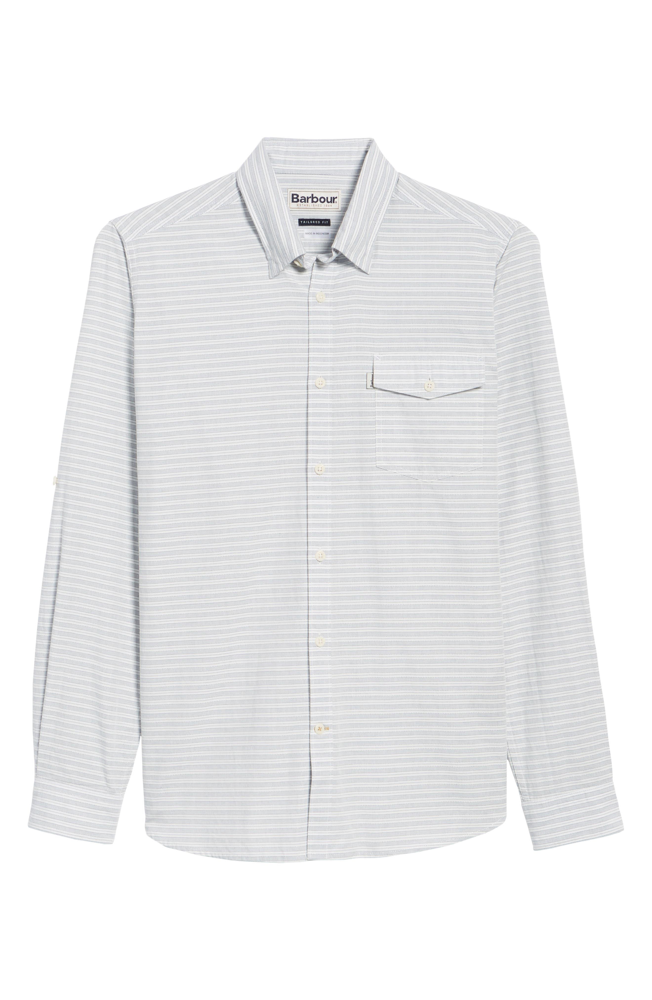 Huchen Regular Fit Stripe Sport Shirt,                             Alternate thumbnail 6, color,                             White