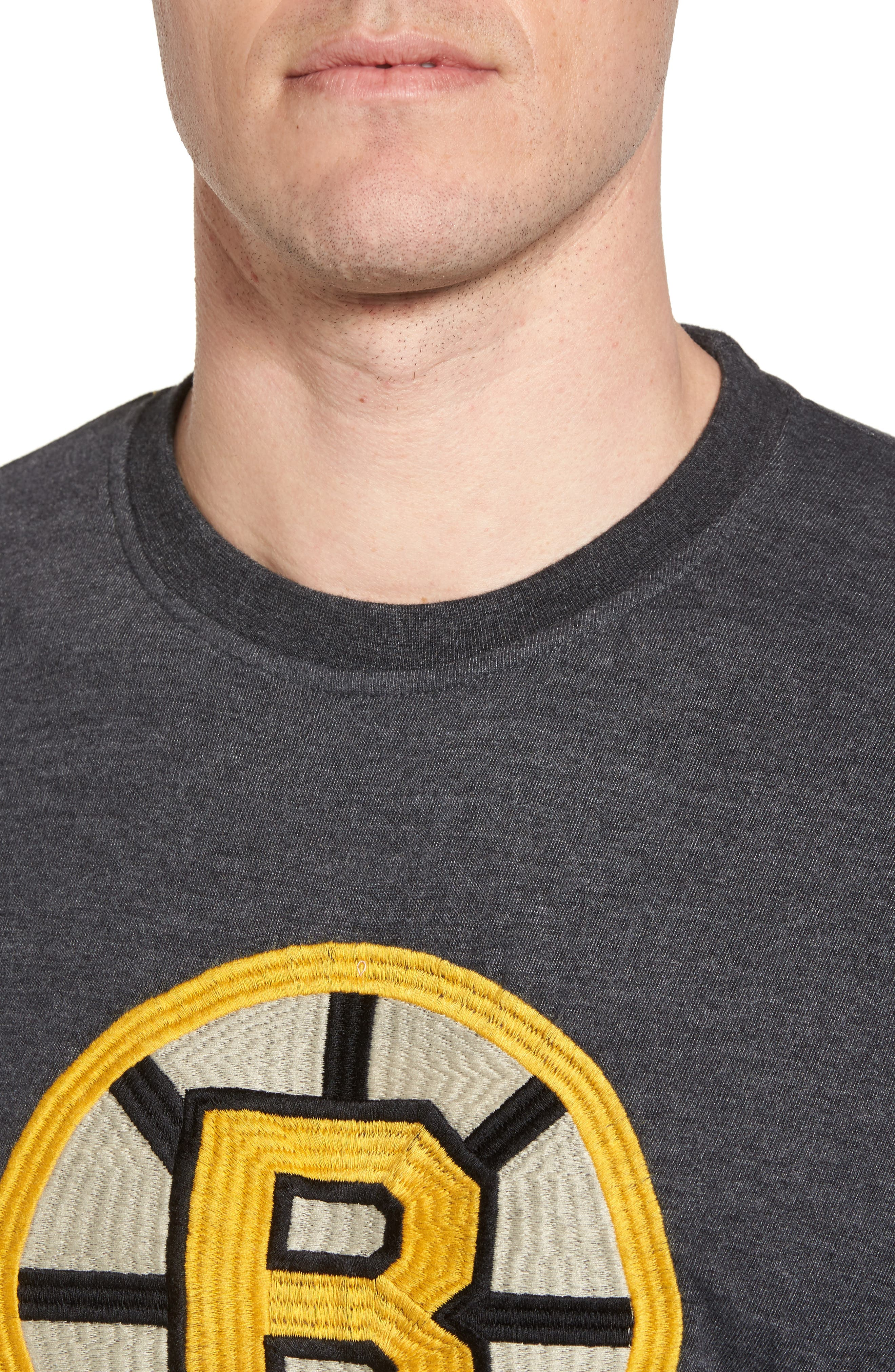Hillwood Bruins T-Shirt,                             Alternate thumbnail 4, color,                             Heather Black