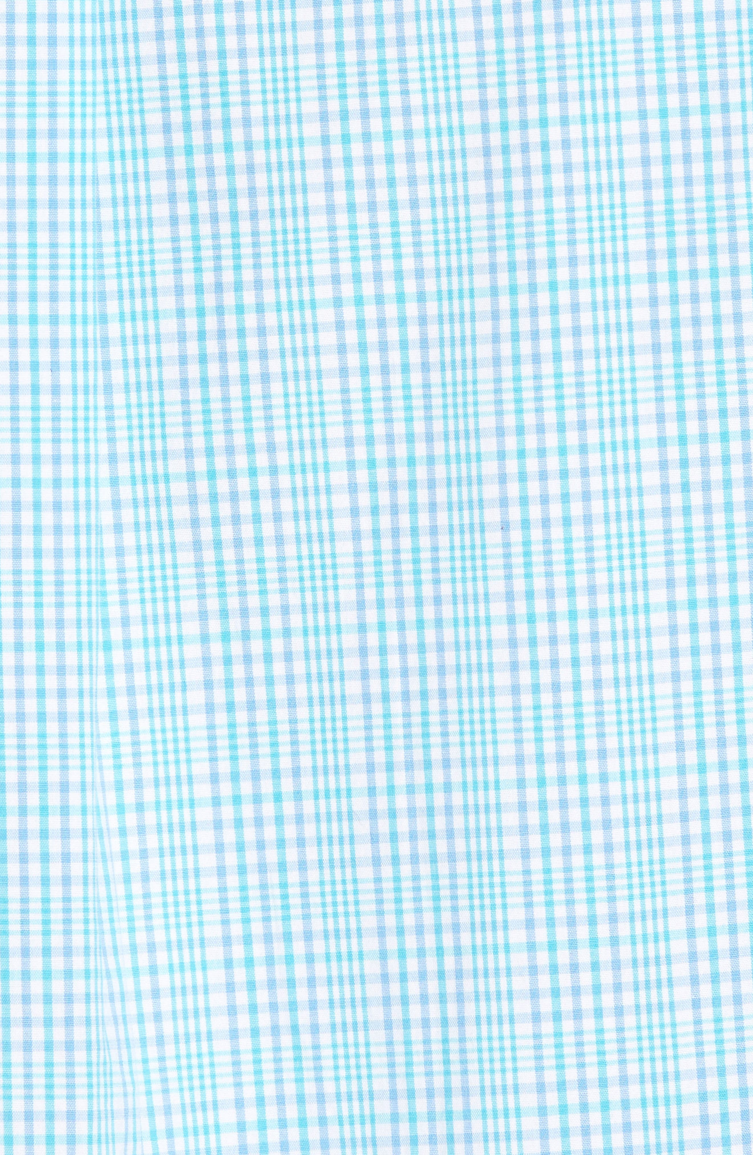 Rolling Harbor Classic Fit Plaid Sport Shirt,                             Alternate thumbnail 5, color,                             Turquoise