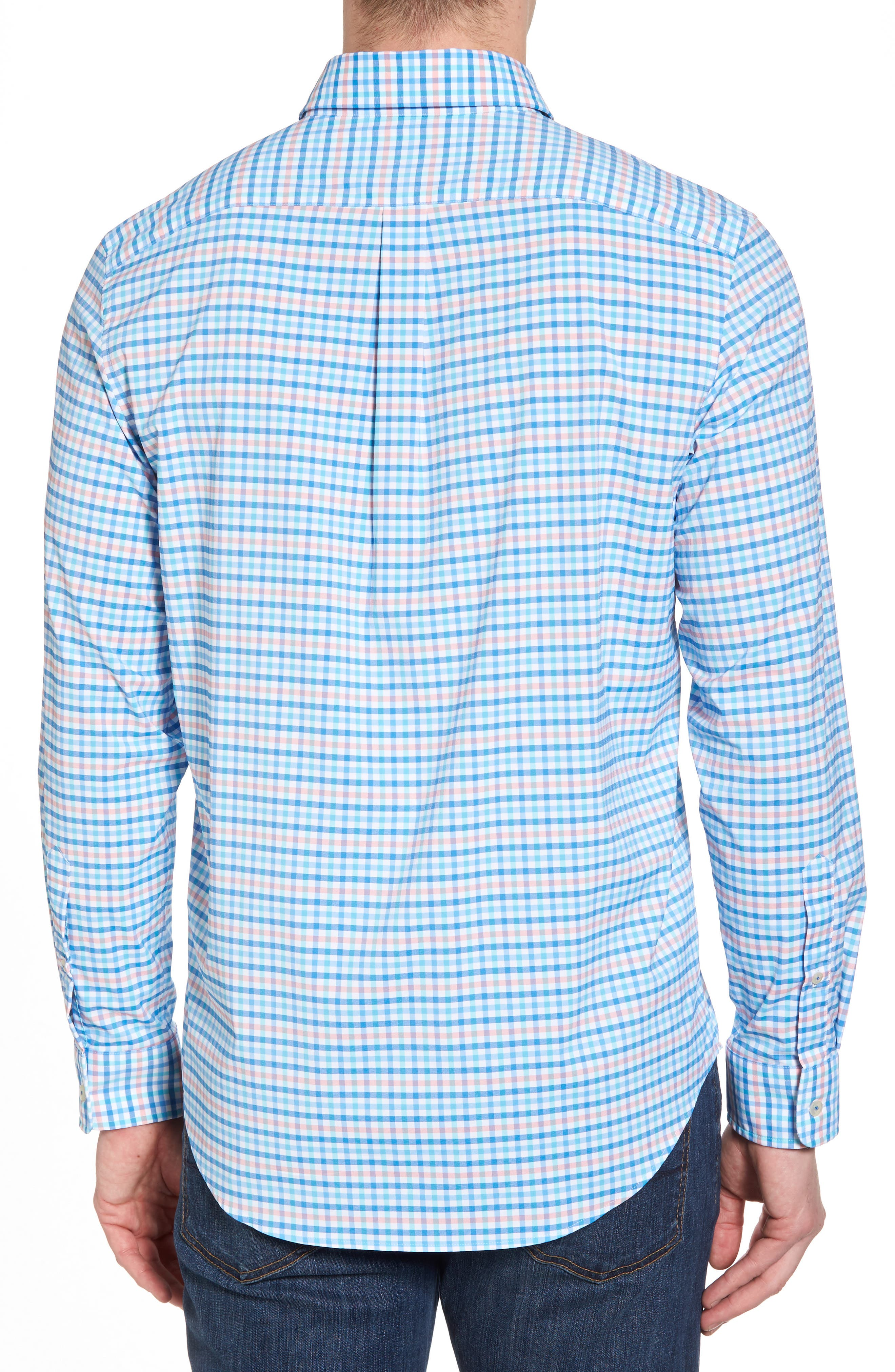 Coco Bay Classic Fit Check Performance Sport Shirt,                             Alternate thumbnail 2, color,                             Ocean Breeze