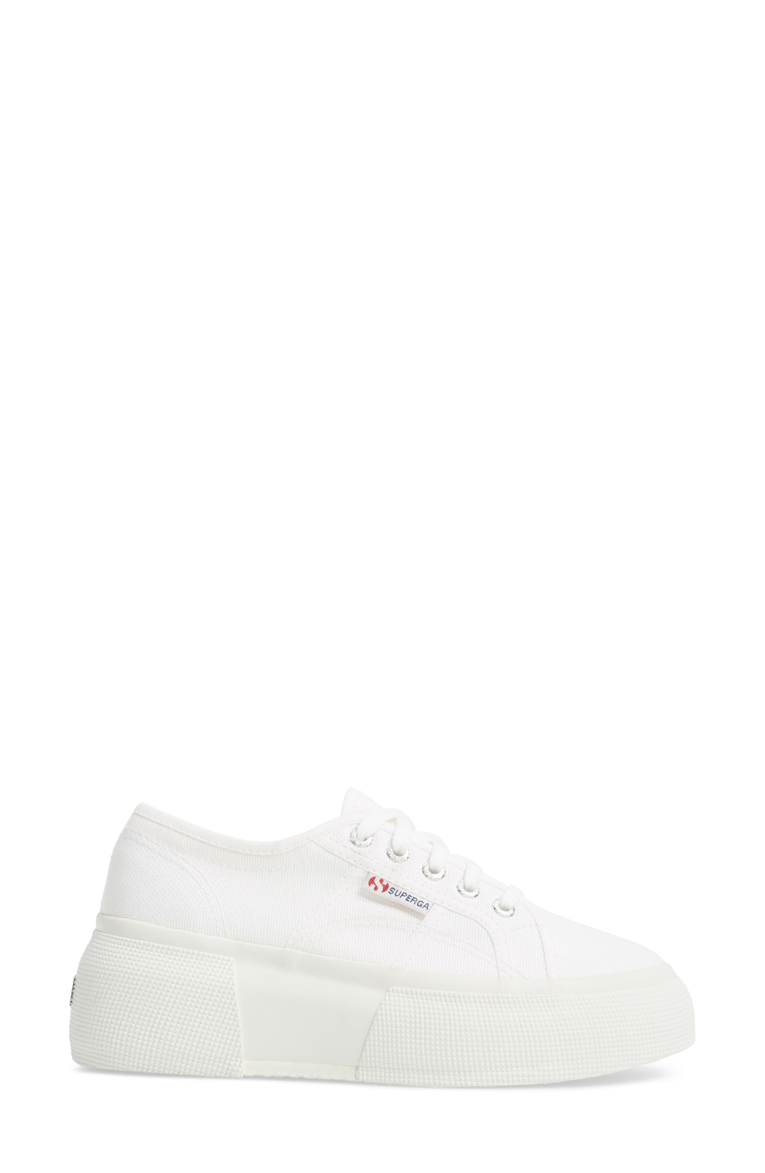 2287 Cotu Platform Sneaker,                             Alternate thumbnail 3, color,                             White