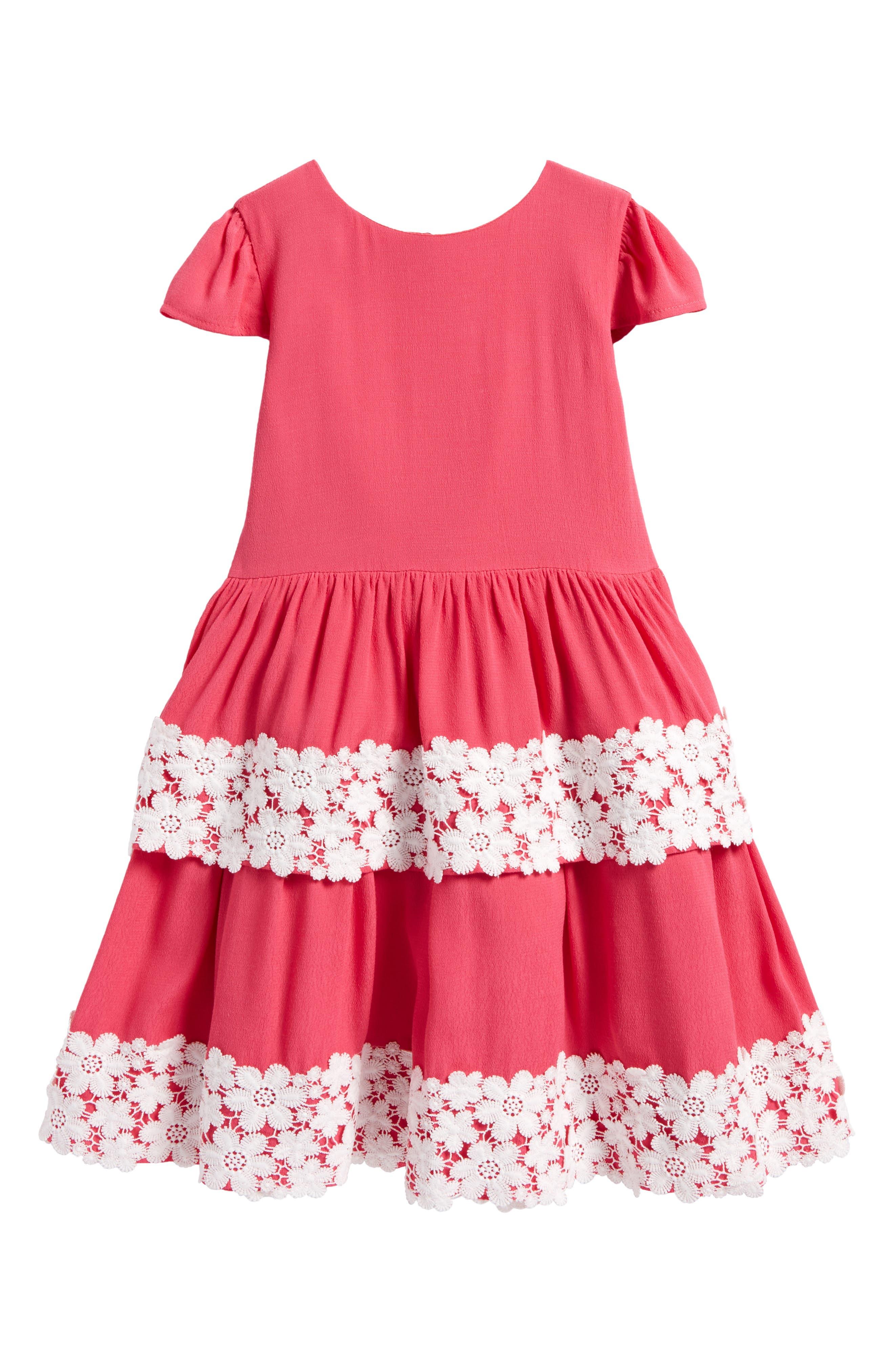 Main Image - Little Angels Tiered Skirt Dress (Toddler Girls & Little Girls)