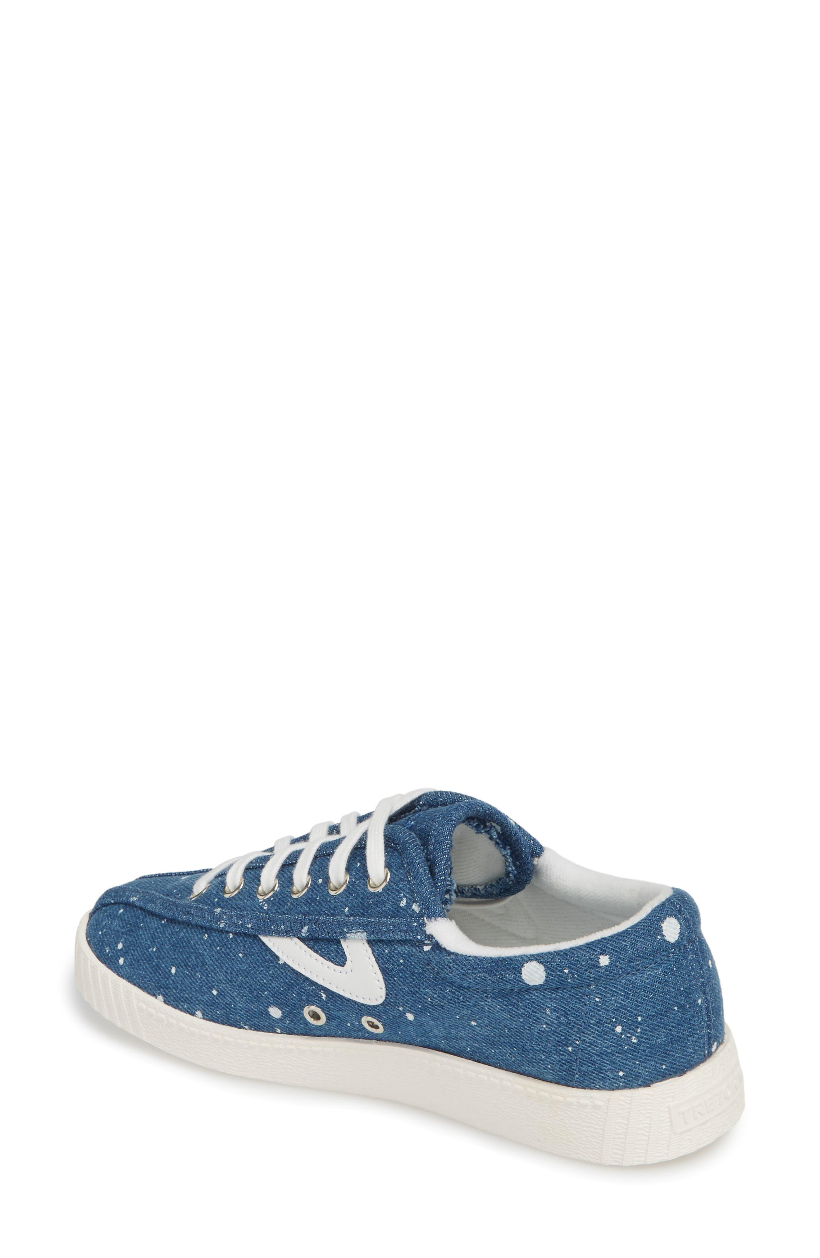 Nylite Plus Sneaker,                             Alternate thumbnail 2, color,                             Blue Fabric