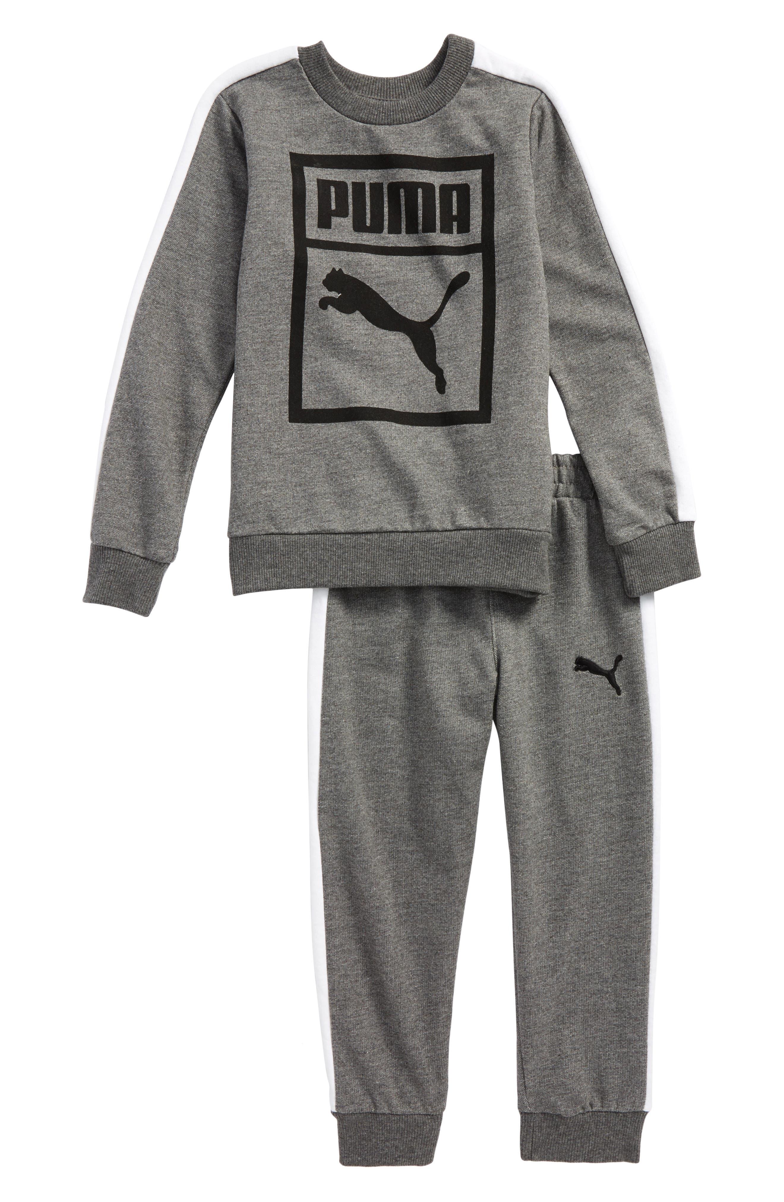 Heritage Sweatshirt & Sweatpants Set,                         Main,                         color, Charcoal Heather
