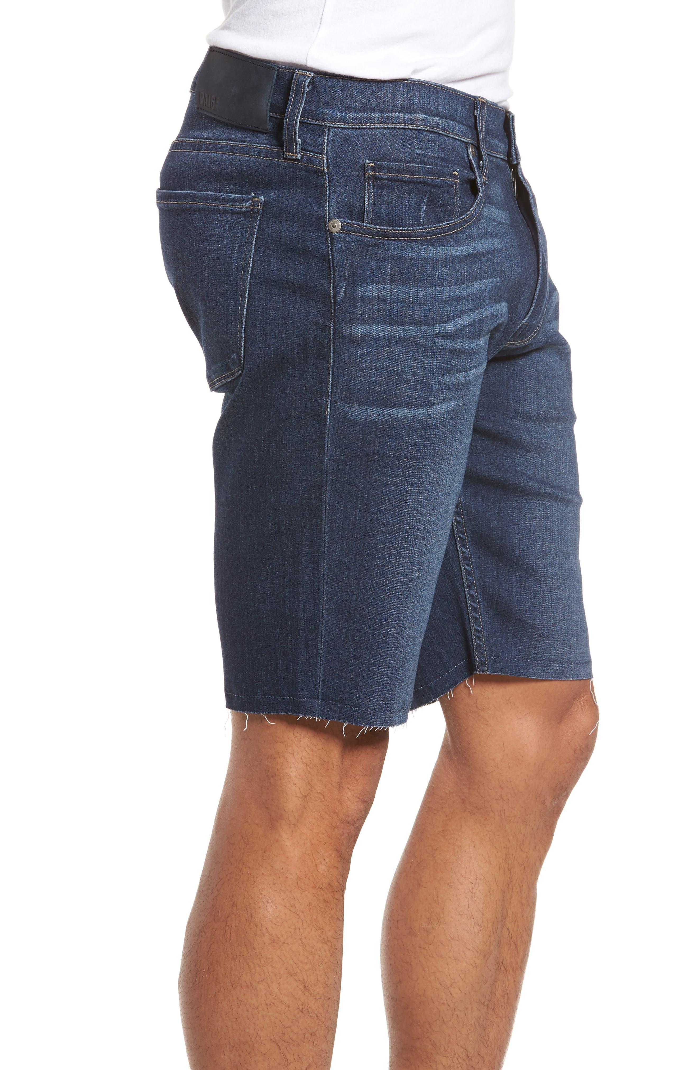 Transcend - Federal Slim Straight Leg Denim Shorts,                             Alternate thumbnail 3, color,                             Leo