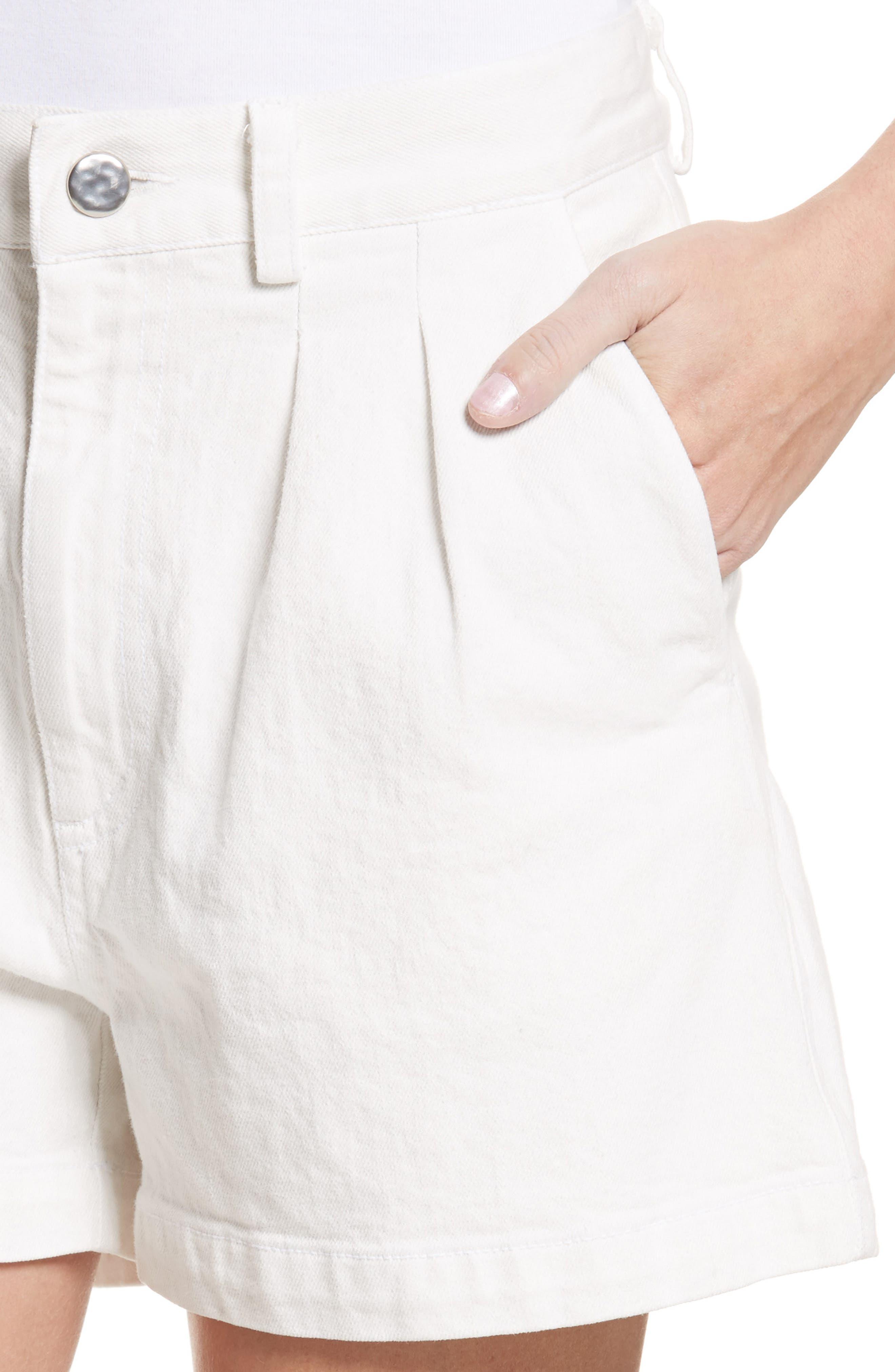 Daft Denim Shorts,                             Alternate thumbnail 4, color,                             Dirty White