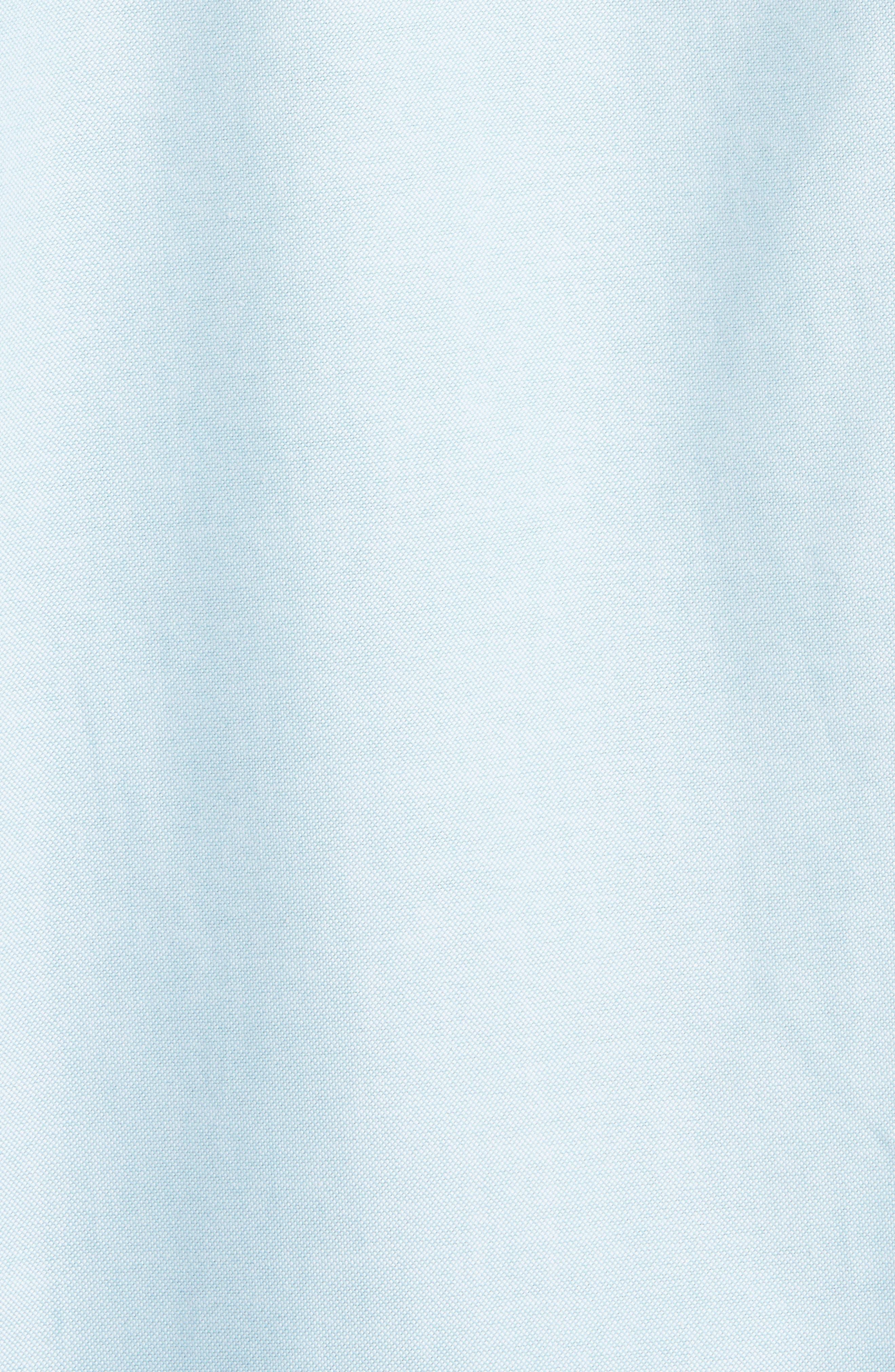 Oversize Half Placket Shirt,                             Alternate thumbnail 5, color,                             Light Turquoise
