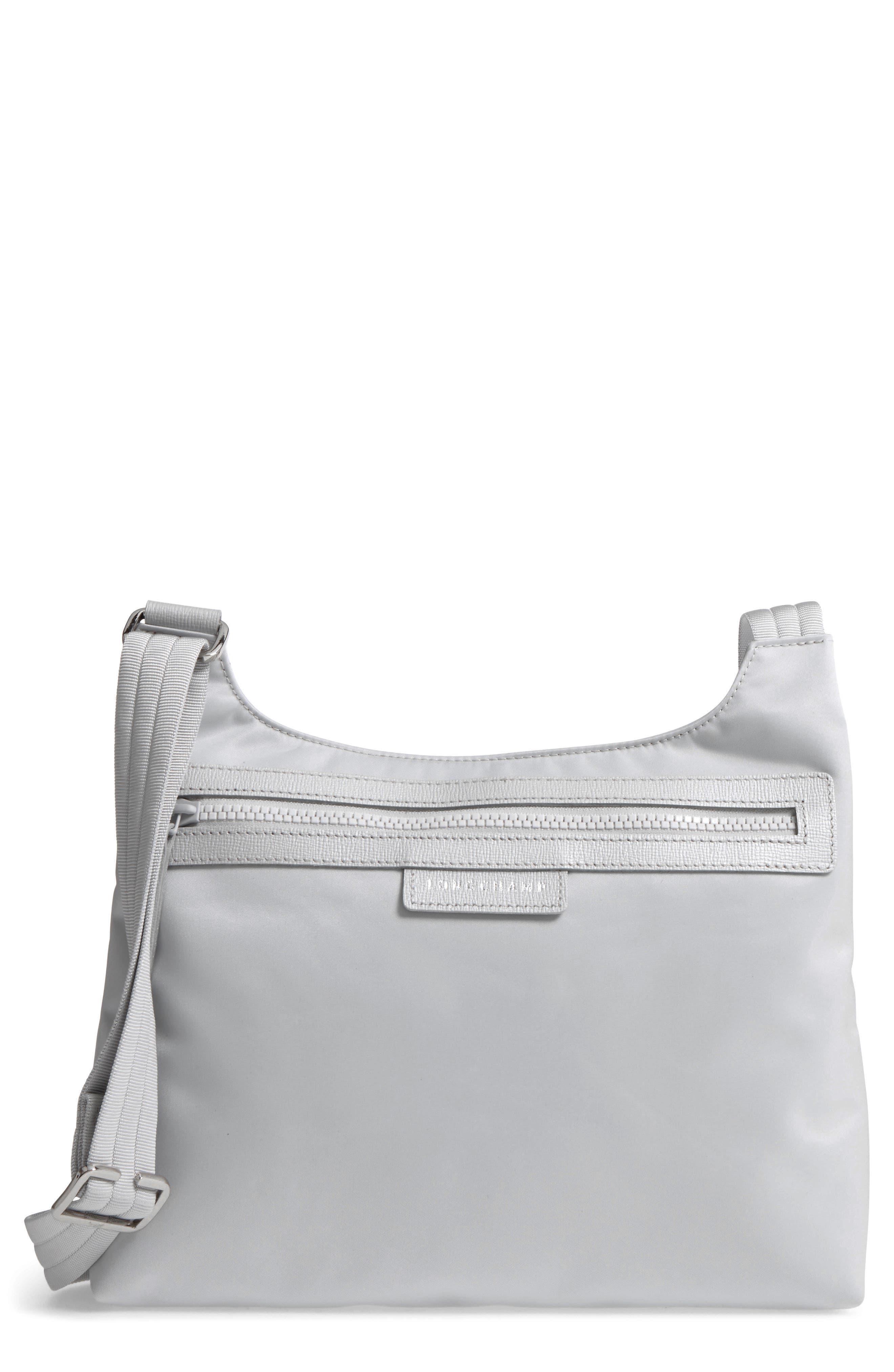 Longchamp Le Pliage Neo Nylon Crossbody Bag Metallic In Silver Medium Black Authentic