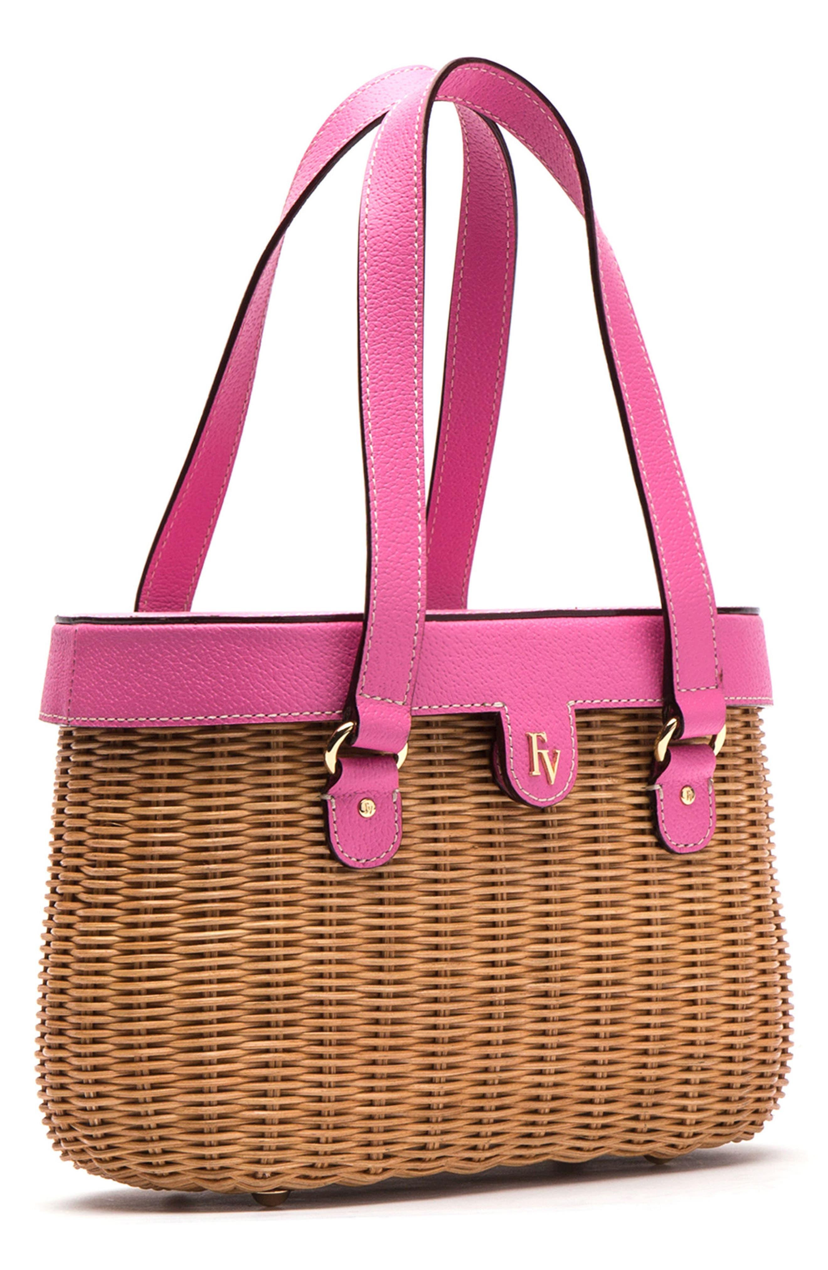 Alternate Image 3  - Frances Valentine Wicker Basket Shoulder Bag