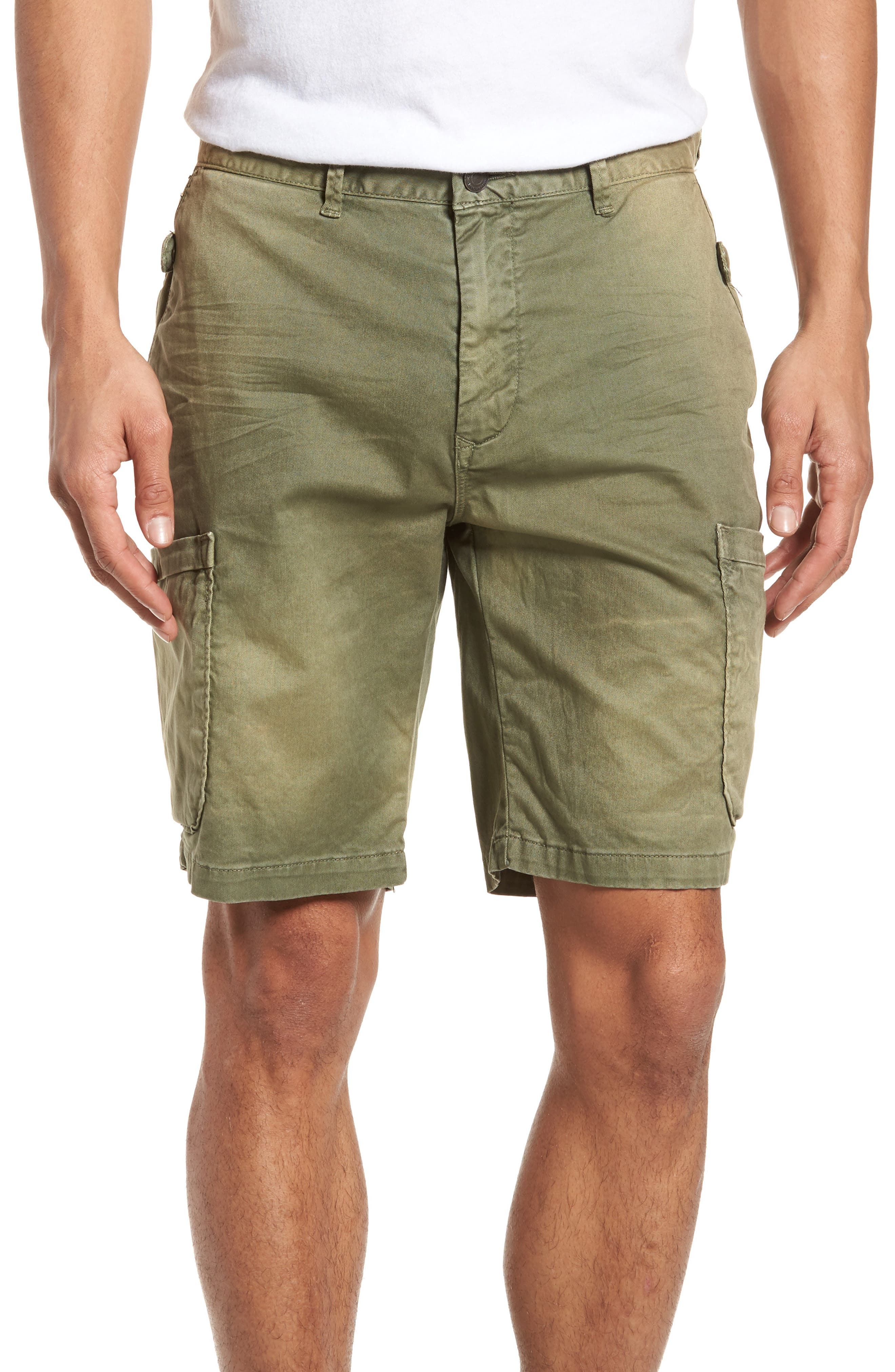 Washed Cargo Shorts,                         Main,                         color, Army