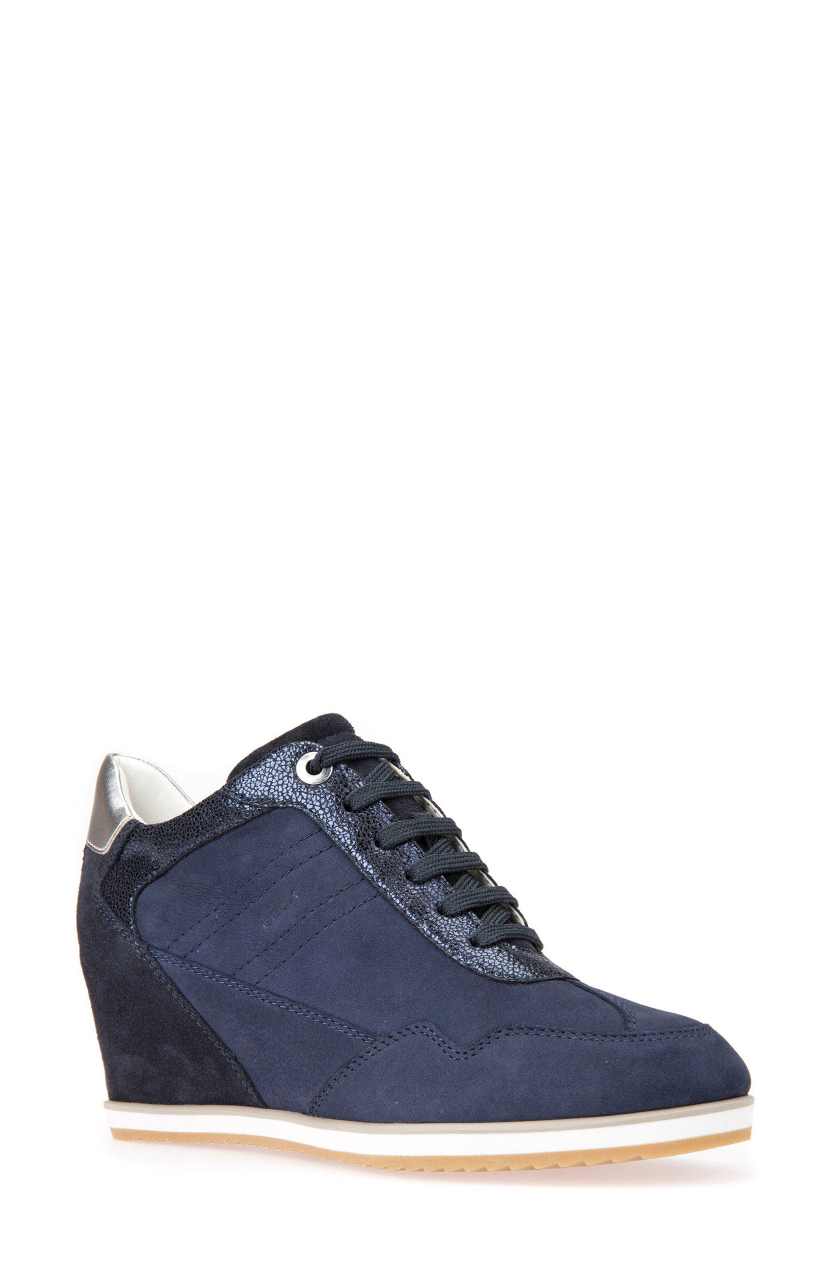 Alternate Image 1 Selected - Geox Illusion 34 Wedge Sneaker (Women)
