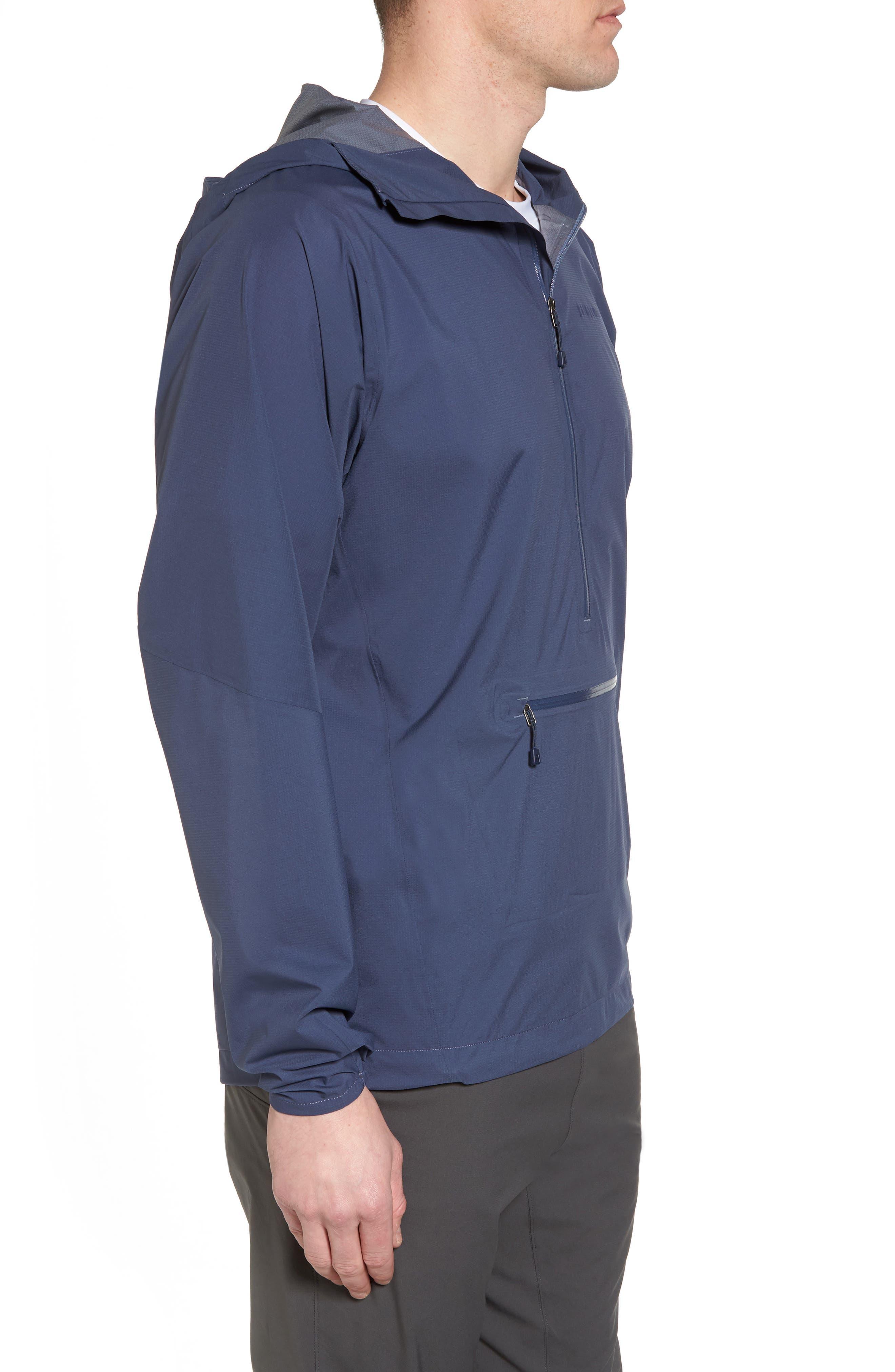 Stretch Rainshadow Jacket,                             Alternate thumbnail 3, color,                             Dolomite Blue