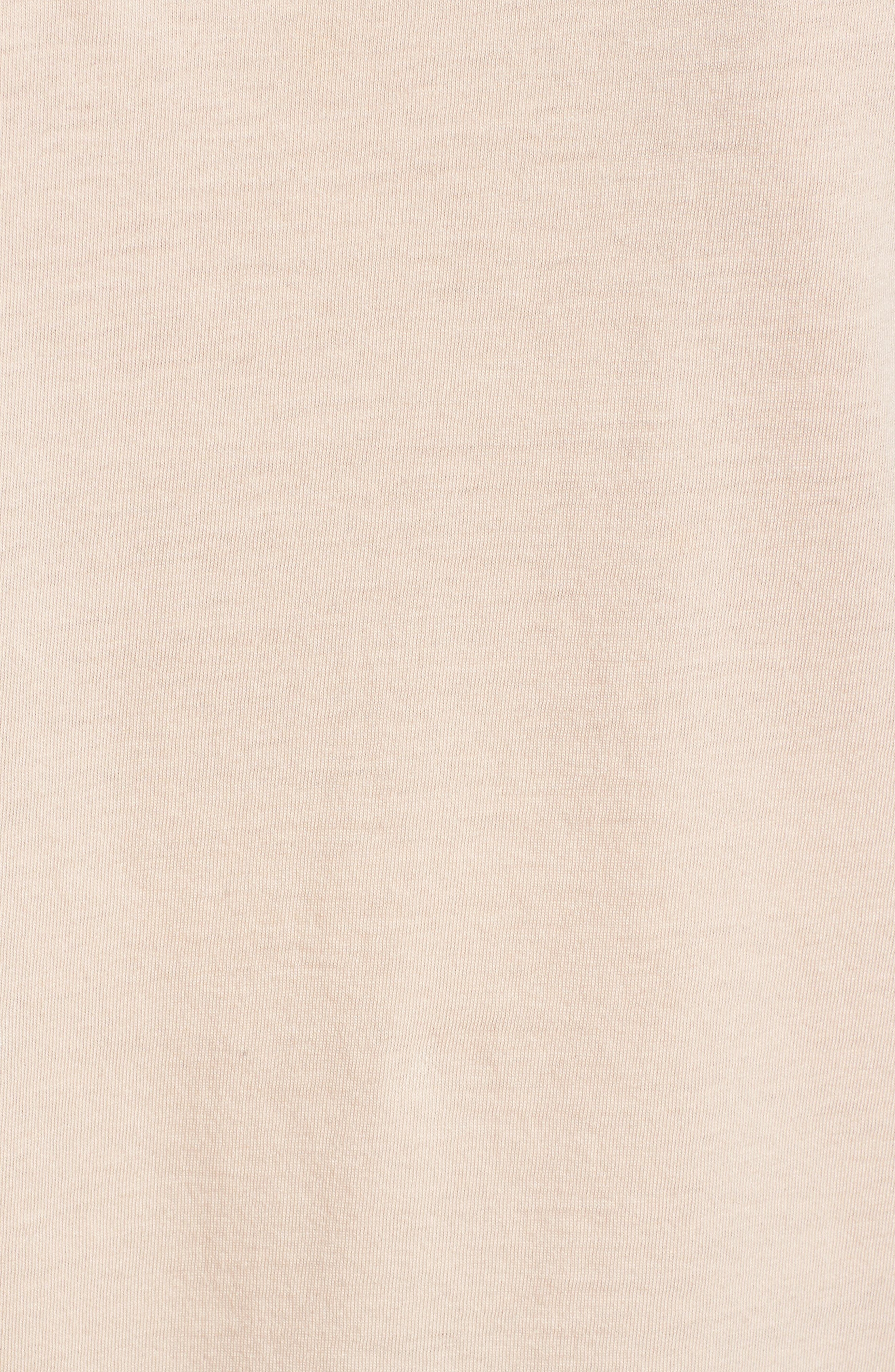 Cotton & Modal Rolled Hem Tee,                             Alternate thumbnail 5, color,                             Pink Hero