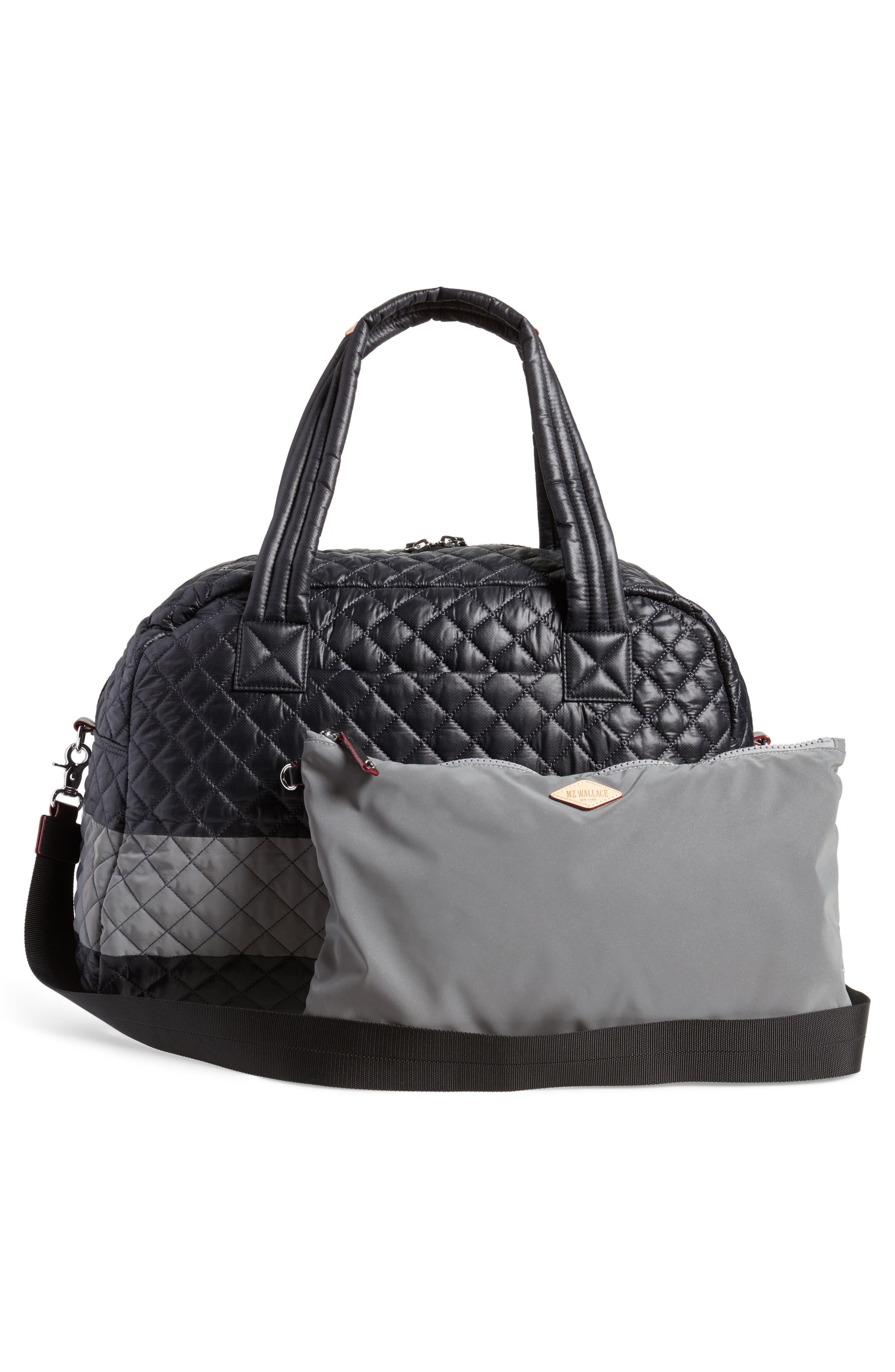 Alternate Image 3  - MZ Wallace Jim Quilted Nylon Duffel Bag