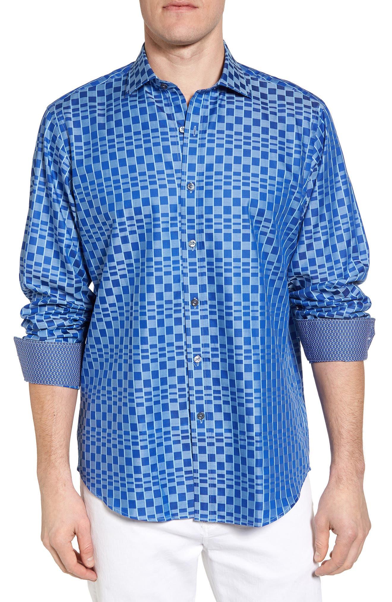 Bugatchi Classic Fit Print Sport Shirt