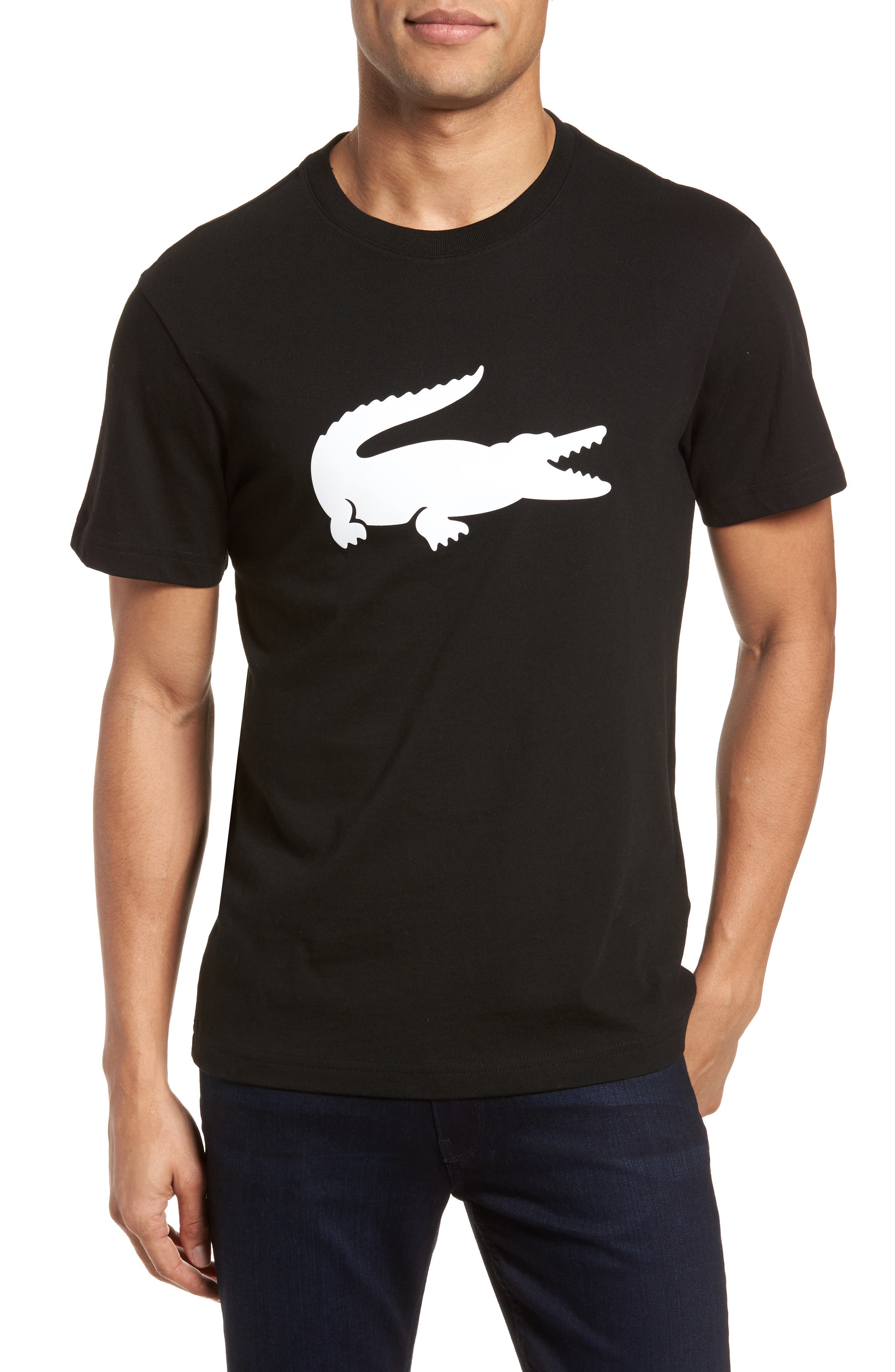 Crocodile T-Shirt,                             Main thumbnail 1, color,                             258 Black/ White