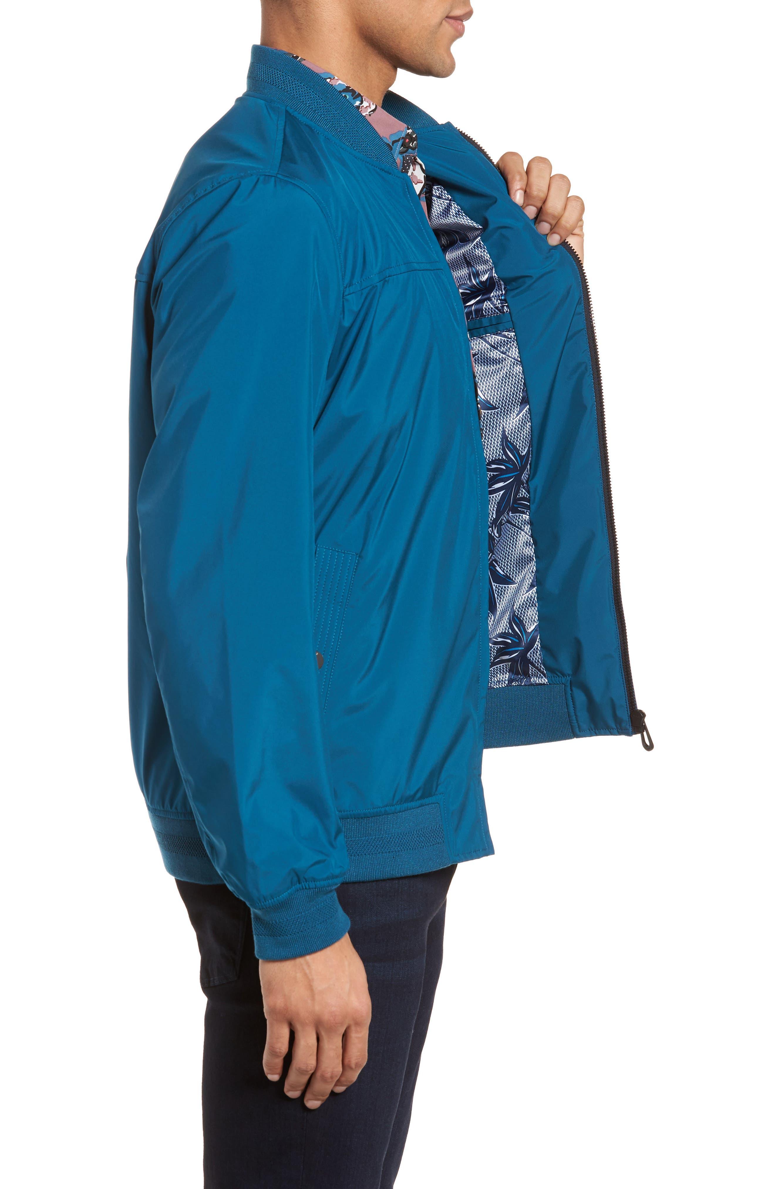 Ohta Bomber Jacket,                             Alternate thumbnail 3, color,                             Teal