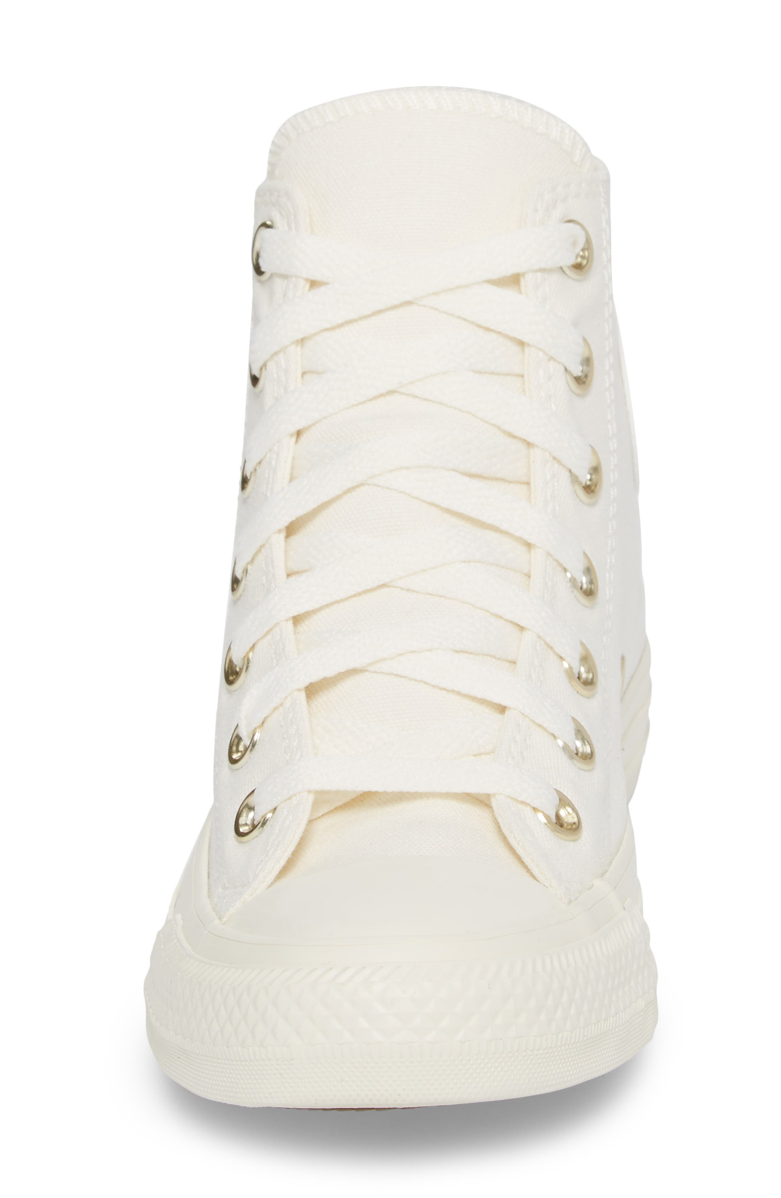 Chuck Taylor<sup>®</sup> All Star<sup>®</sup> Hi Sneaker,                             Alternate thumbnail 4, color,                             Egret