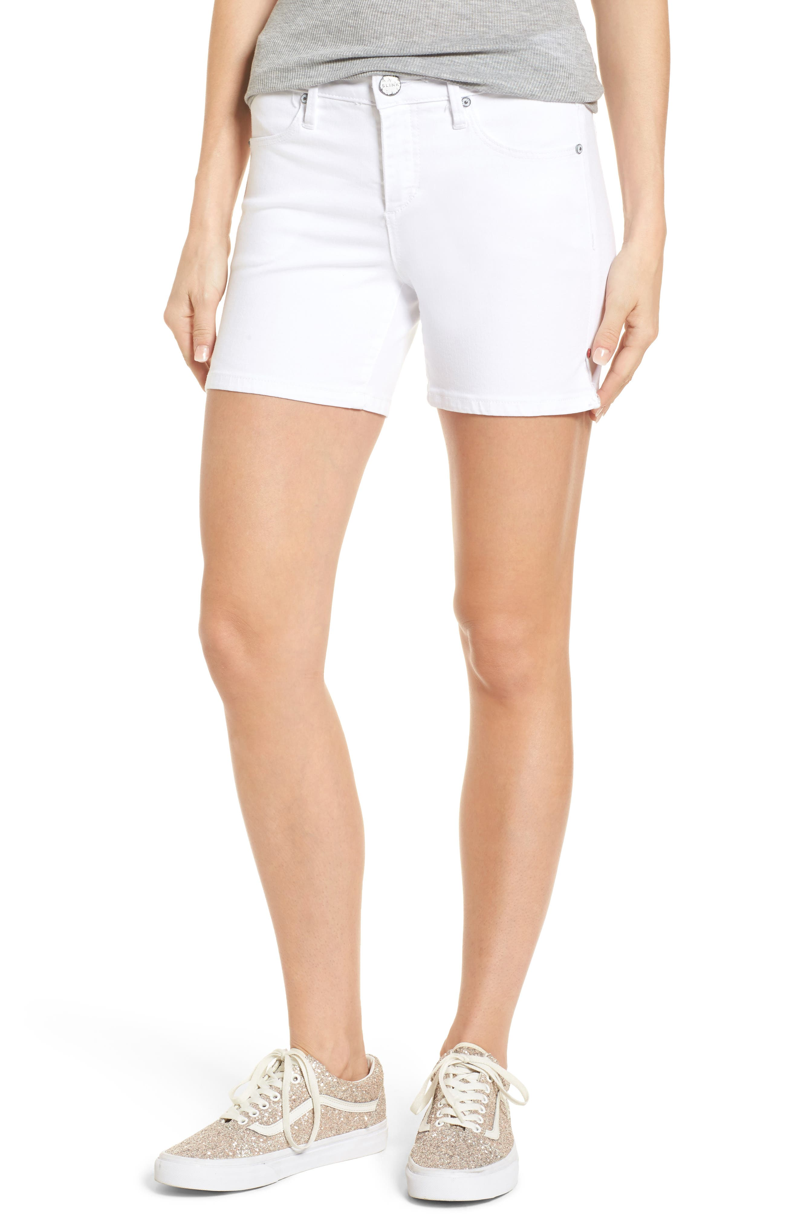 Side Vent Shorts,                         Main,                         color, White