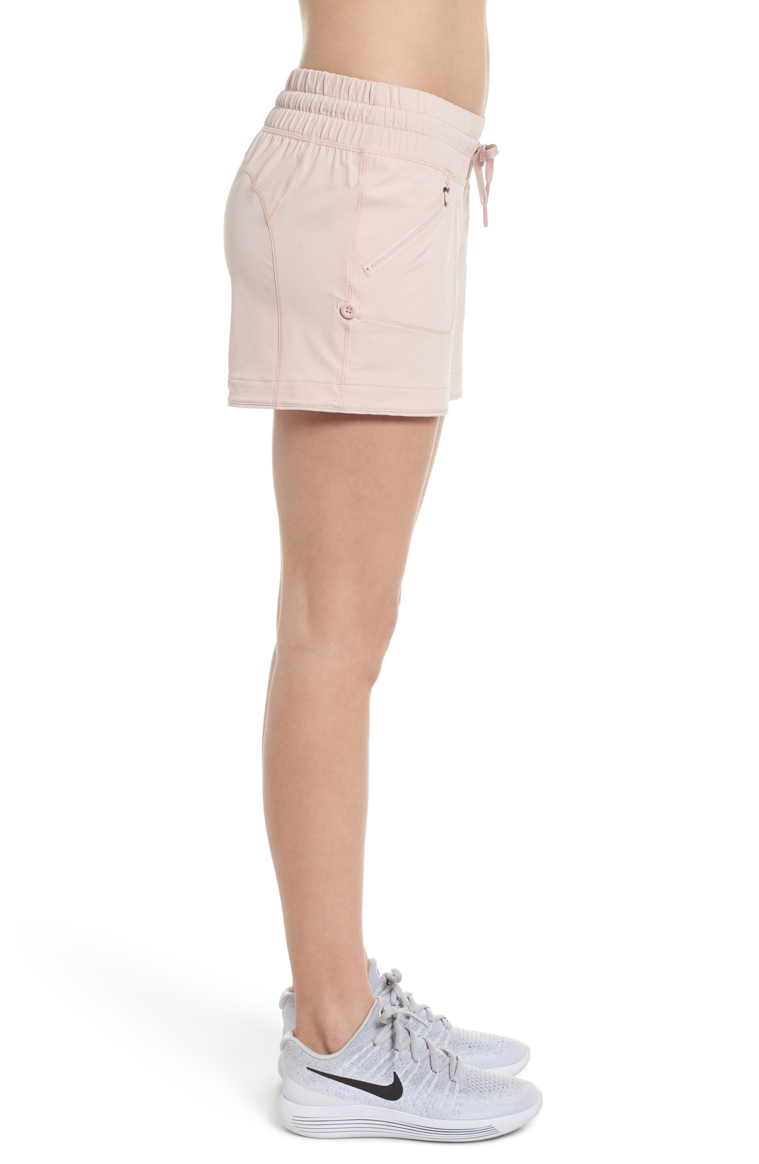 Switchback Shorts,                             Alternate thumbnail 3, color,                             Pink Sepia