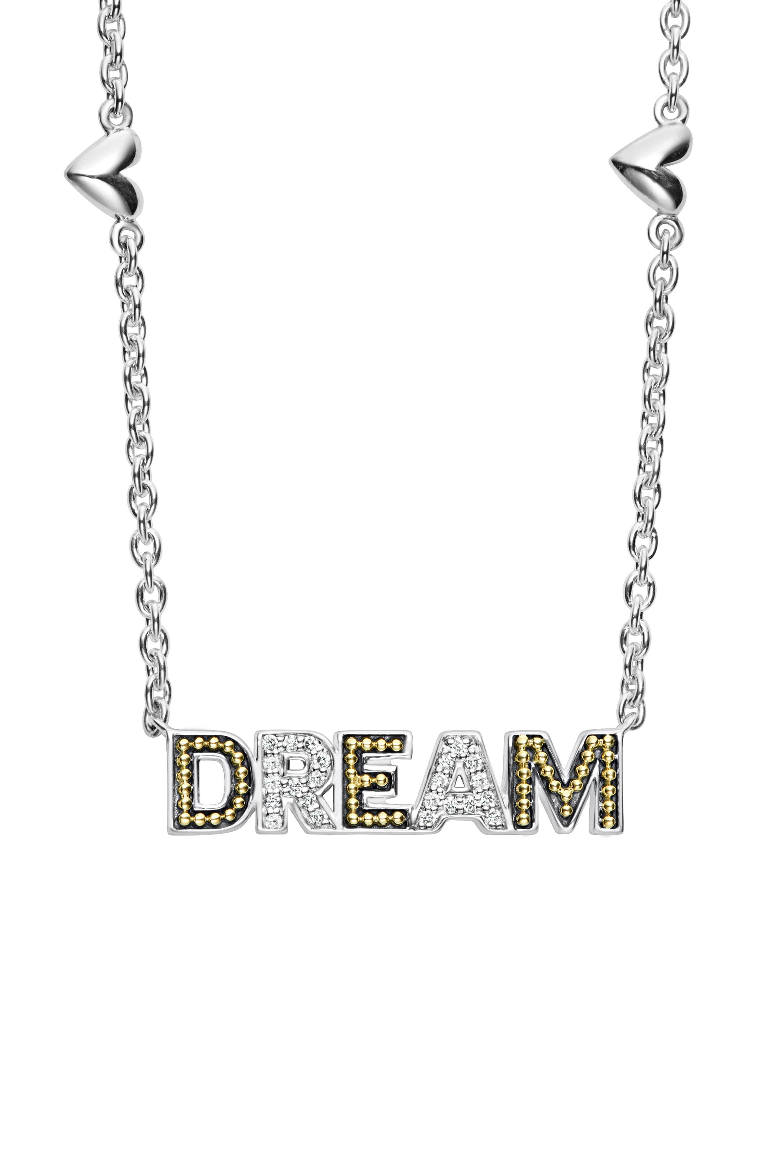 Beloved Diamond Dream Chain Necklace,                             Main thumbnail 1, color,                             Silver/ Diamond