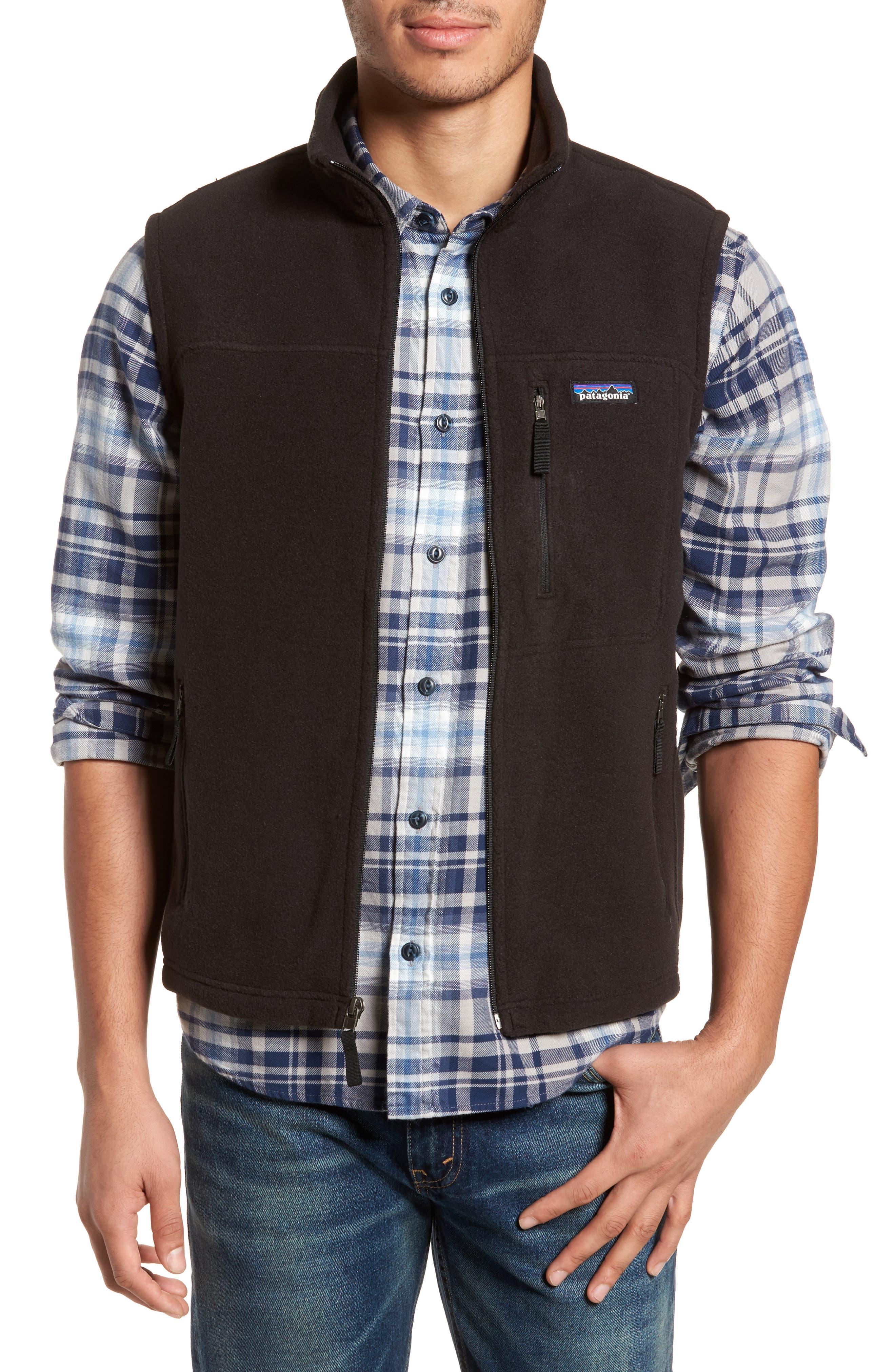 Classic Synchilla<sup>®</sup> Fleece Vest,                             Main thumbnail 1, color,                             Black