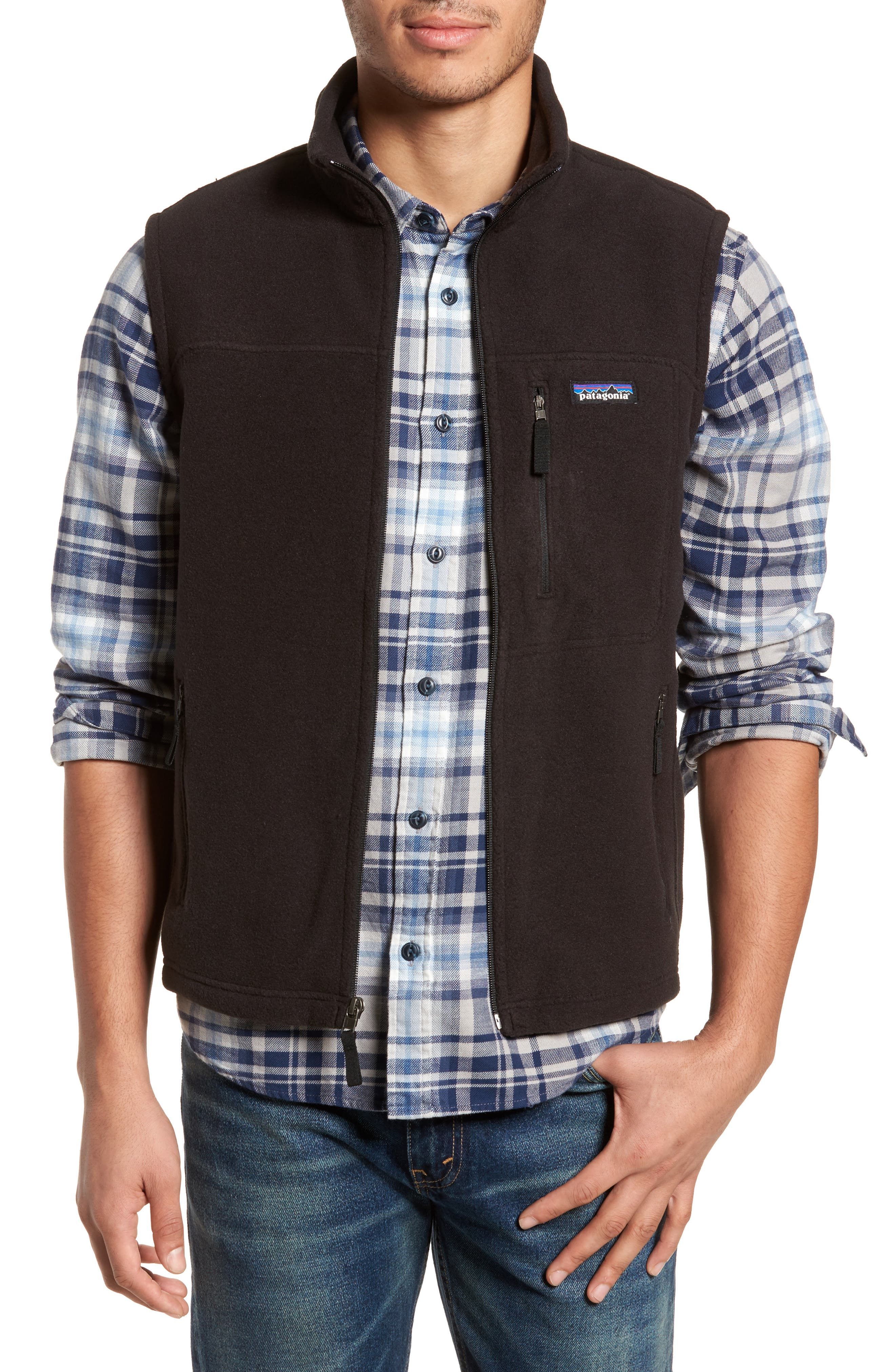 Classic Synchilla<sup>®</sup> Fleece Vest,                         Main,                         color, Black