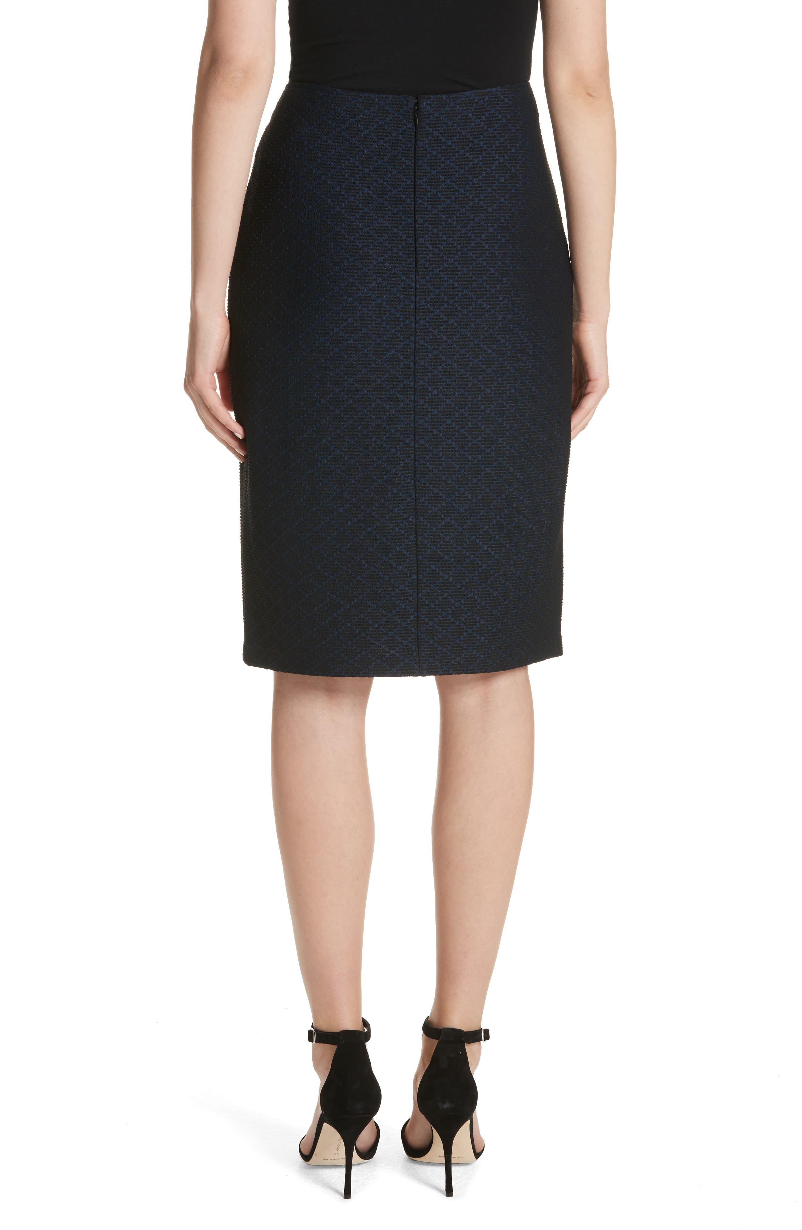 Alternate Image 2  - Emporio Armani Diamond Knit Jacquard Pencil Skirt