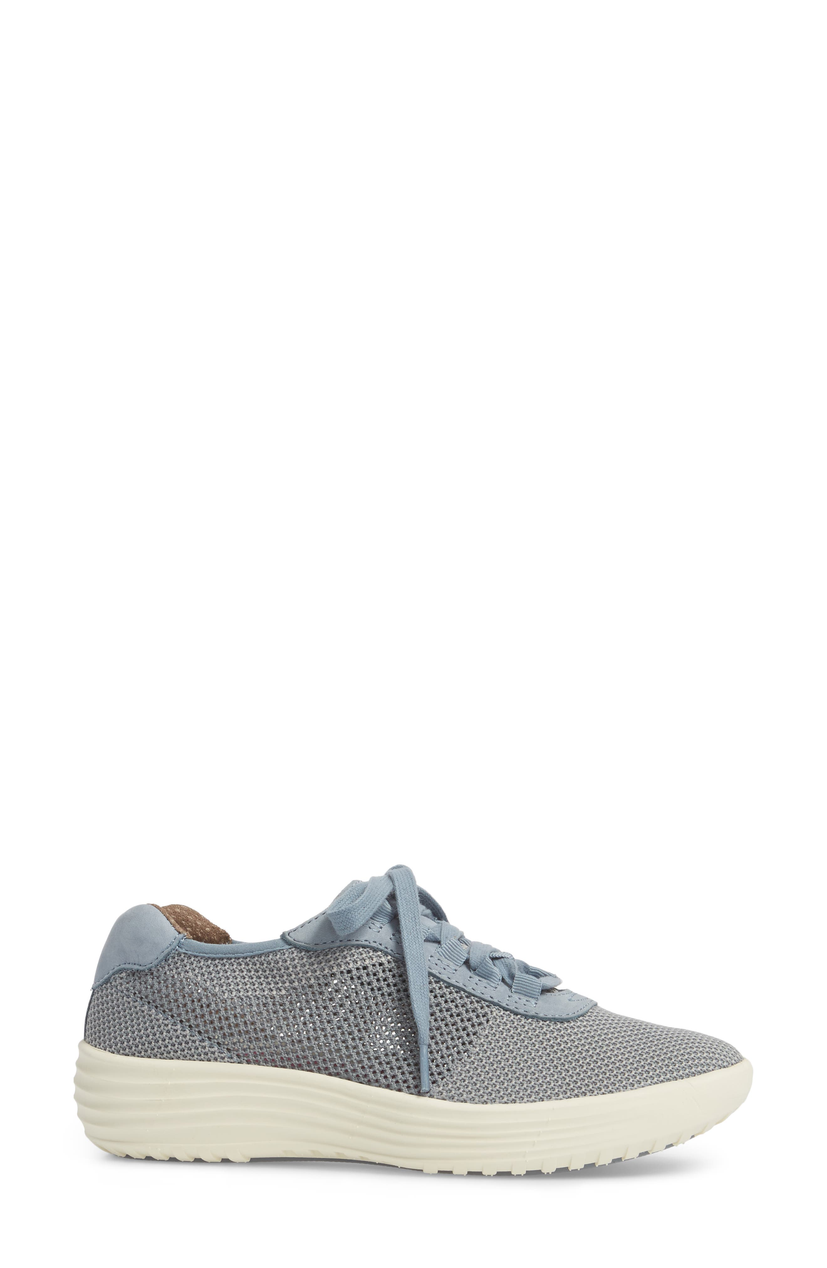 Malibu Sneaker,                             Alternate thumbnail 3, color,                             Chambray Grey Knit Fabric