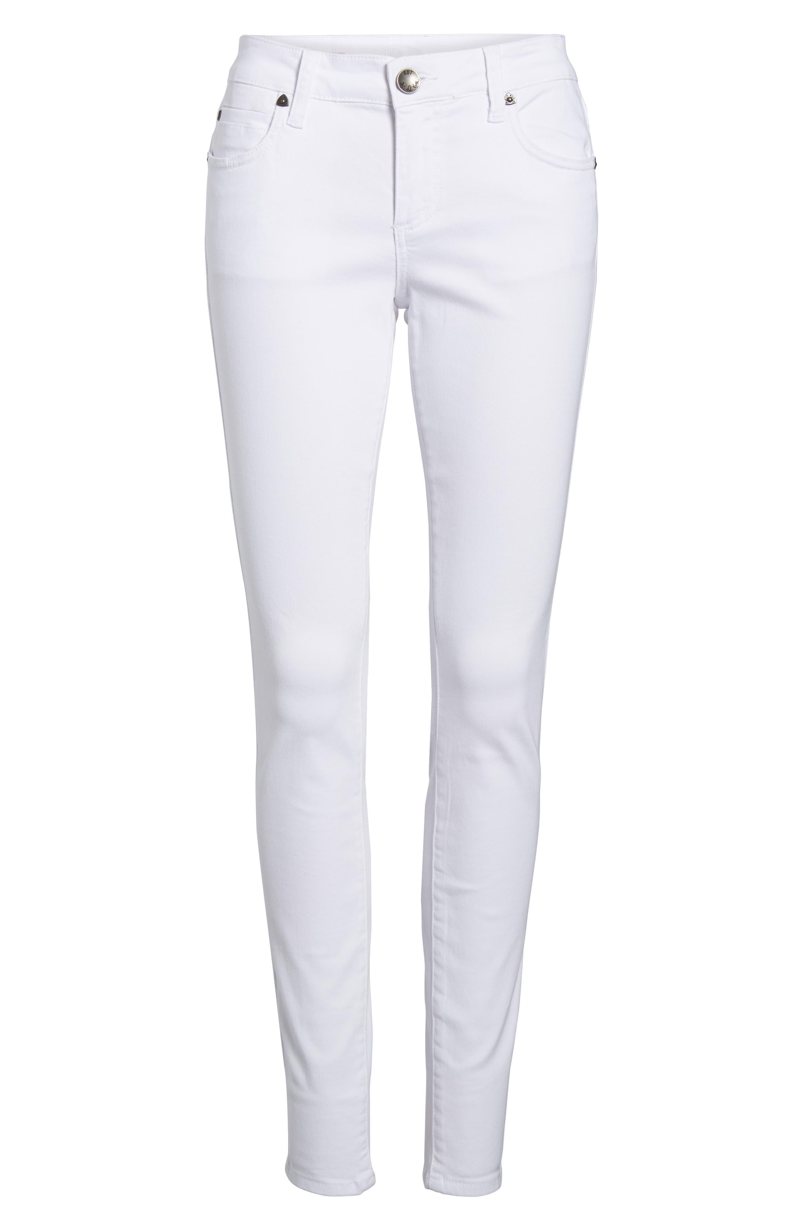 Mia Skinny Jeans,                             Alternate thumbnail 6, color,                             Optic White