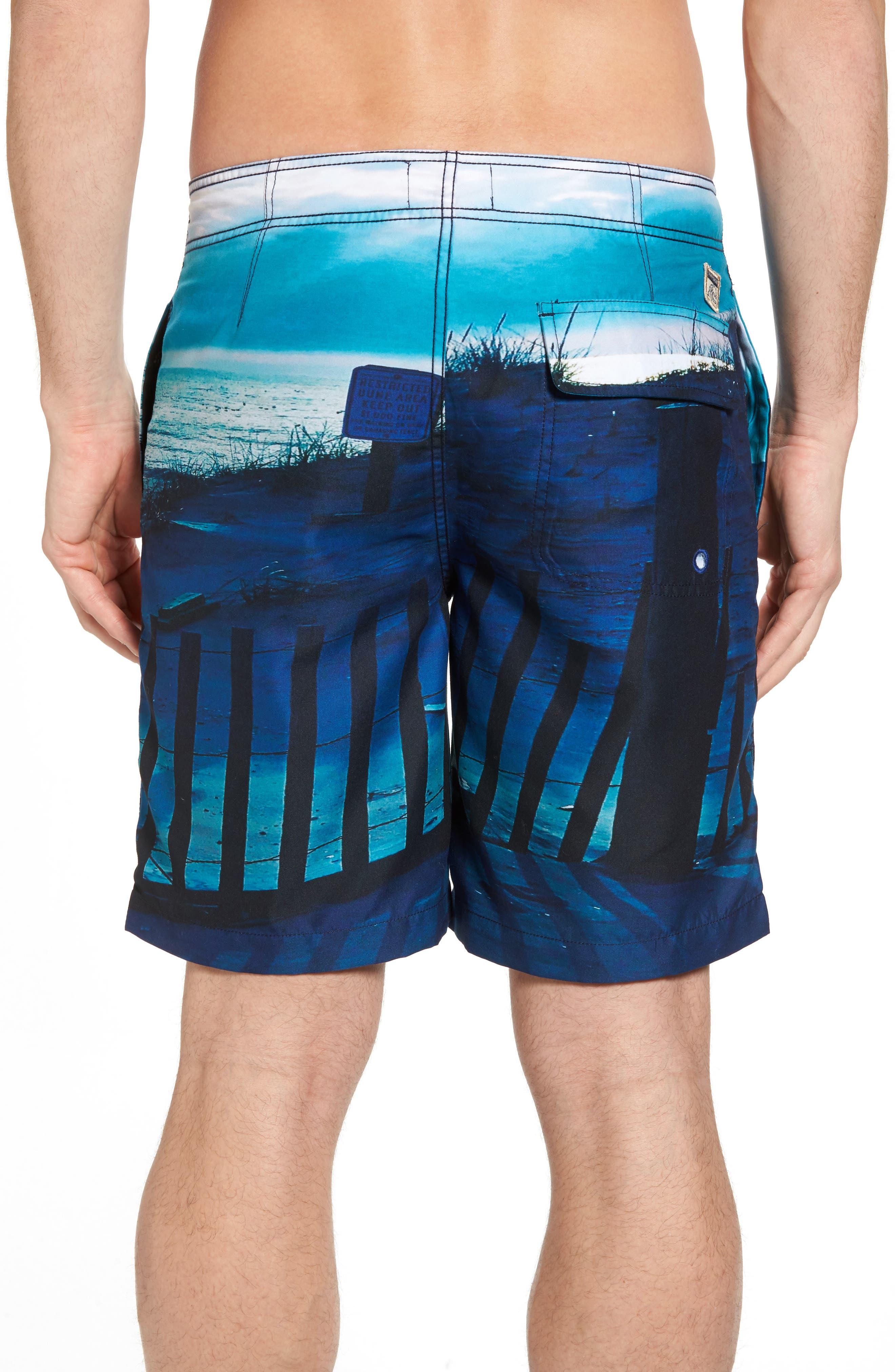 Beach Fence Photo Real Board Shorts,                             Alternate thumbnail 2, color,                             Beach