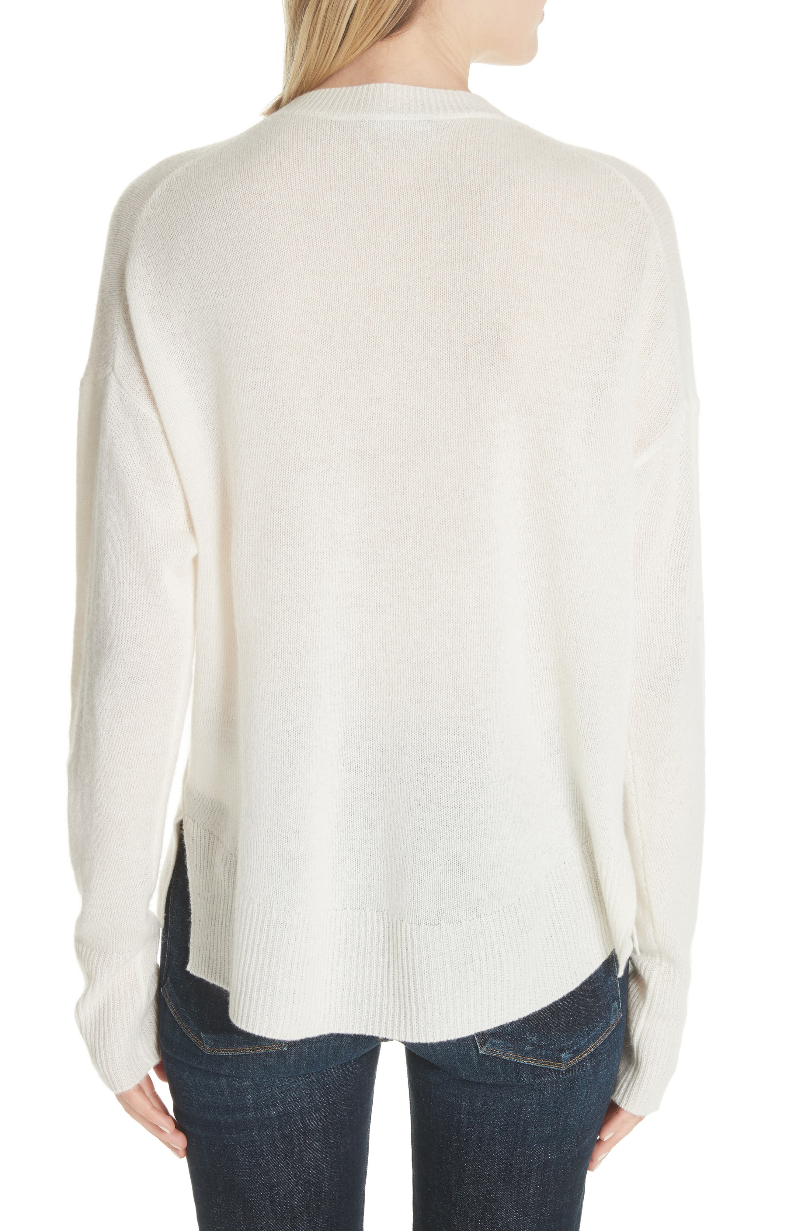 Karenia L Cashmere Sweater,                             Alternate thumbnail 2, color,                             Ivory