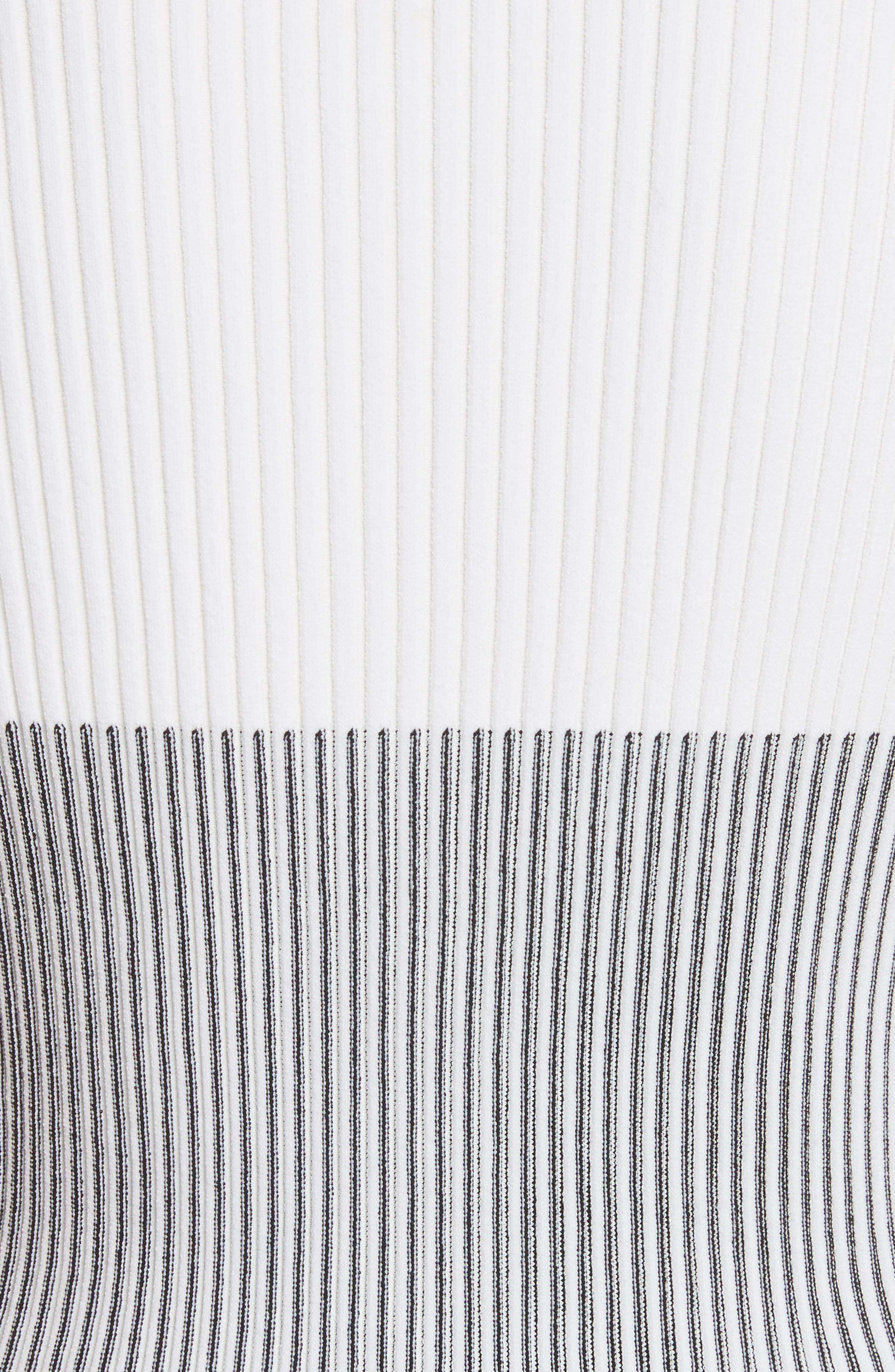Ruffle Sleeve Italian Mesh Cardigan,                             Alternate thumbnail 5, color,                             Black