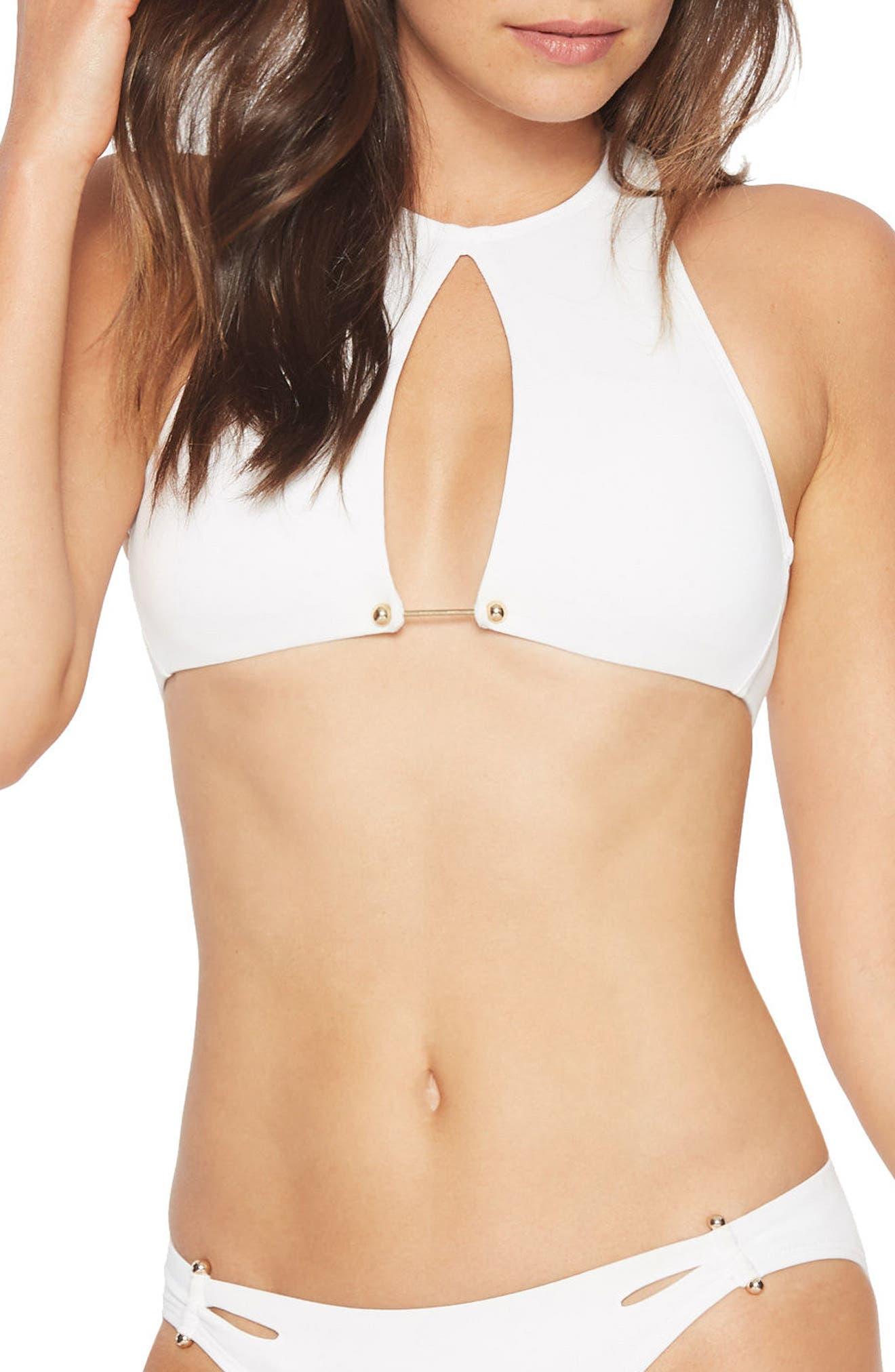 Alternate Image 1 Selected - Robin Piccone Ava High Neck Open Bikini Top