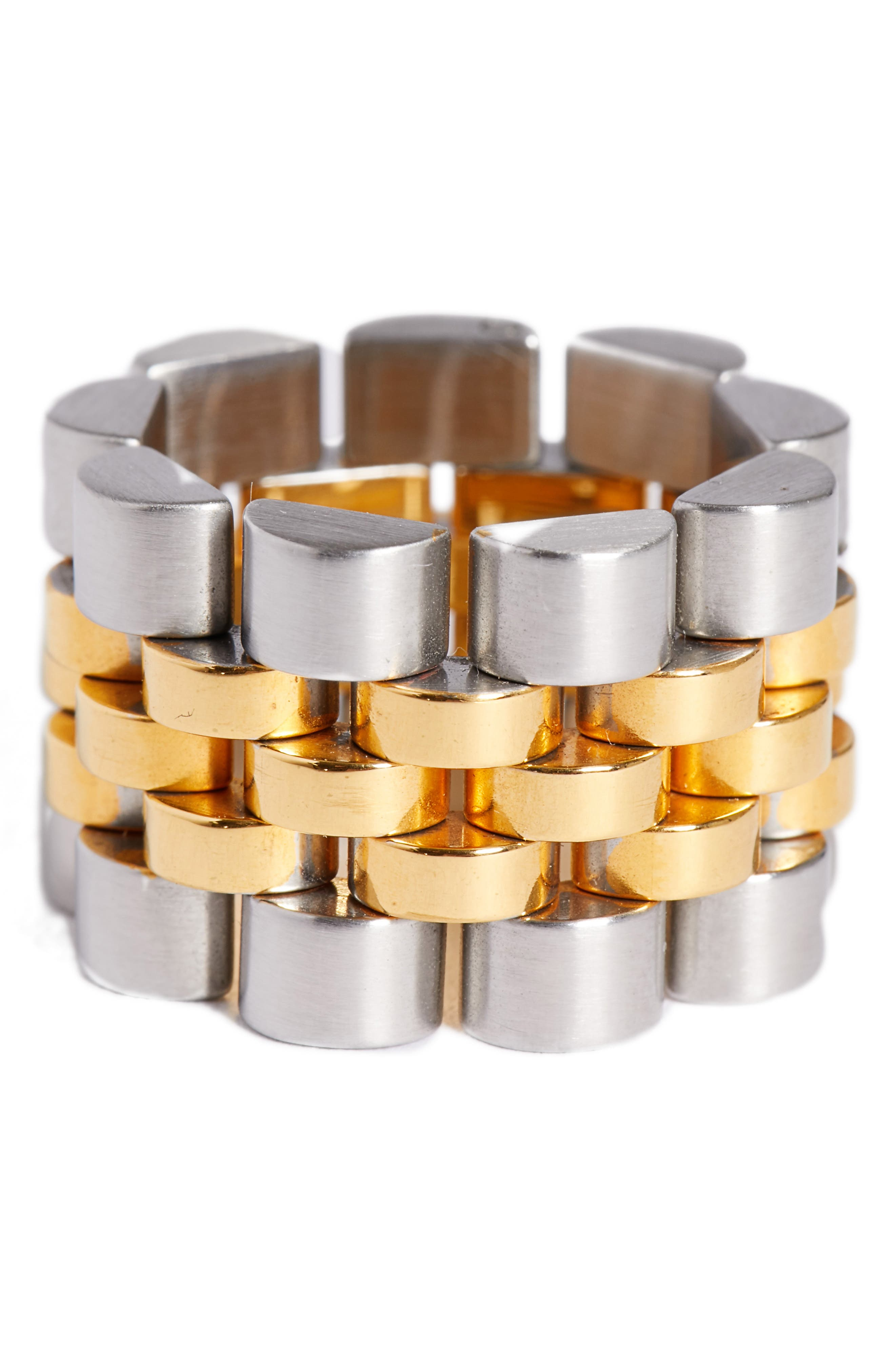 Watch Strap Ring,                             Alternate thumbnail 2, color,                             Gold