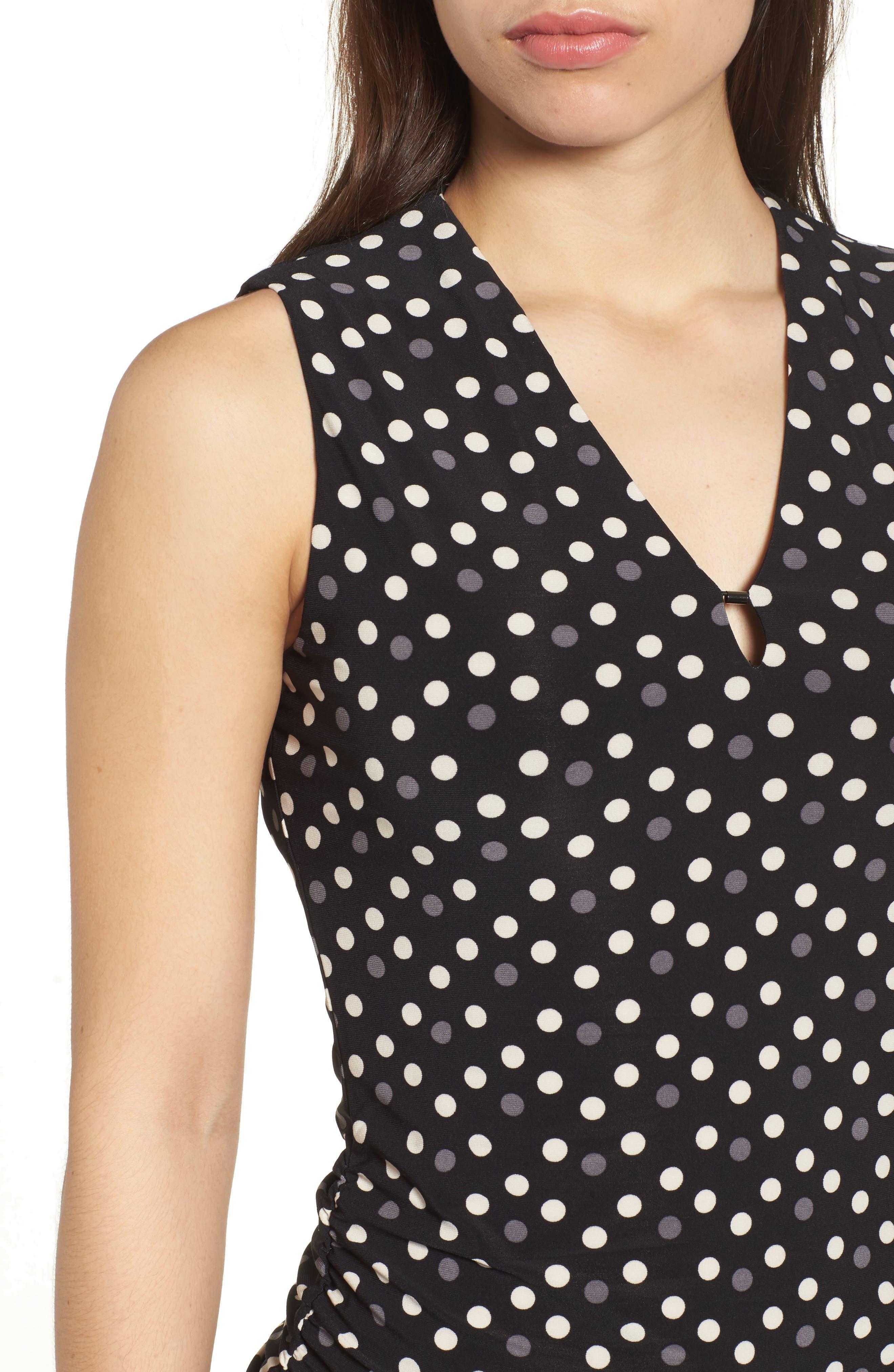 Alternate Image 4  - Anne Klein Splashy Dot Matte Jersey Top