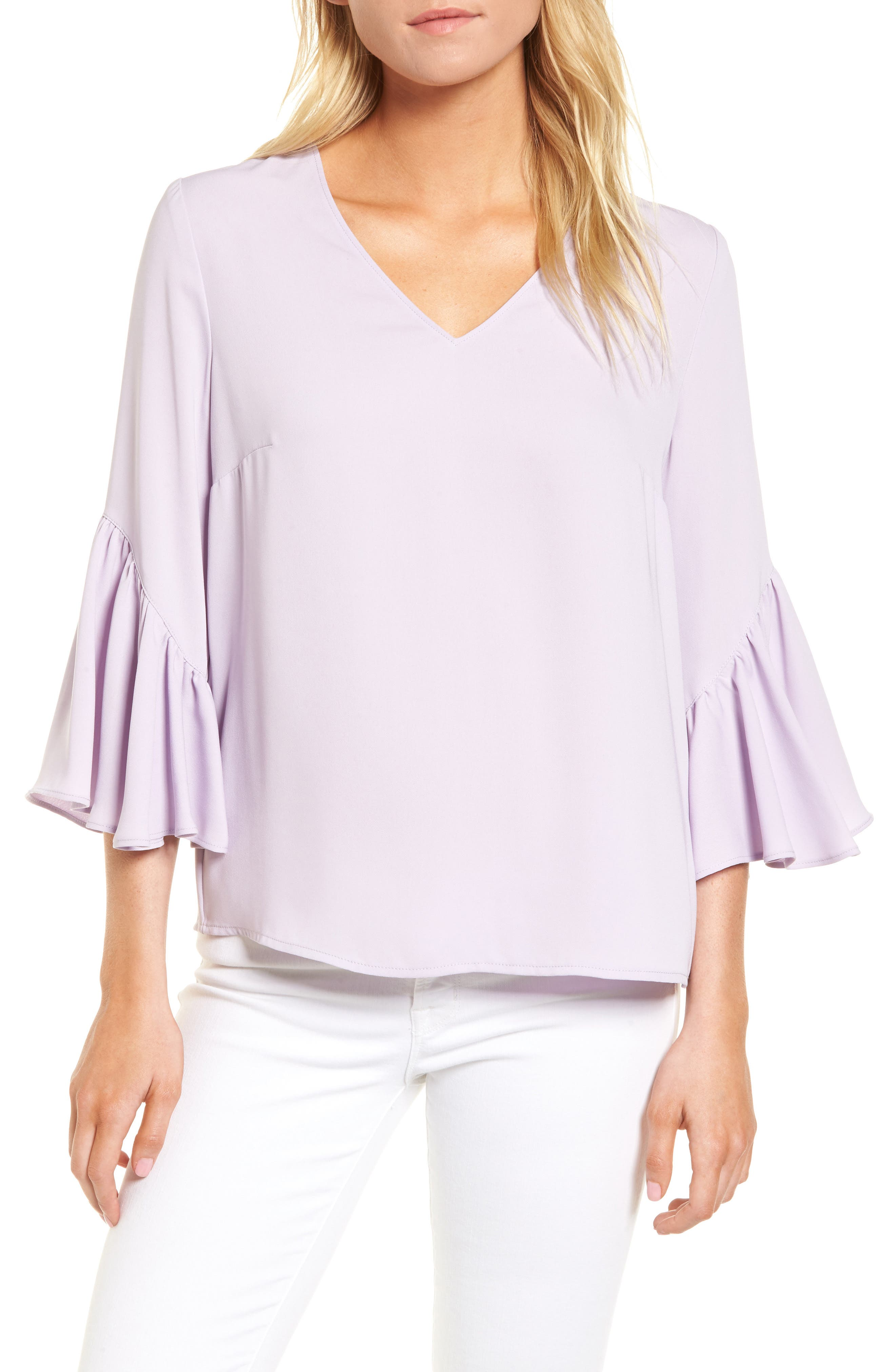 Main Image - Chelsea28 Asymmetrical Bell Sleeve Top