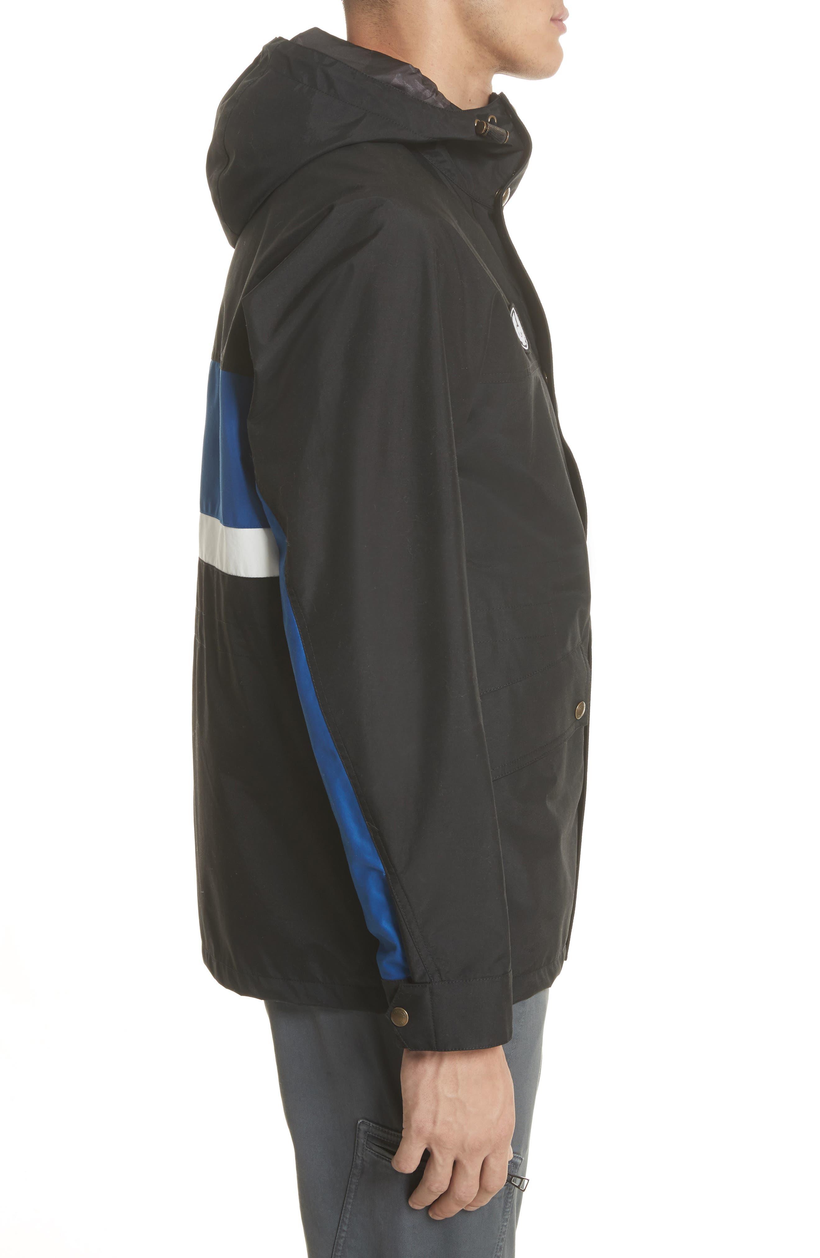 Kersbrook BXS Nylon Jacket,                             Alternate thumbnail 3, color,                             Black