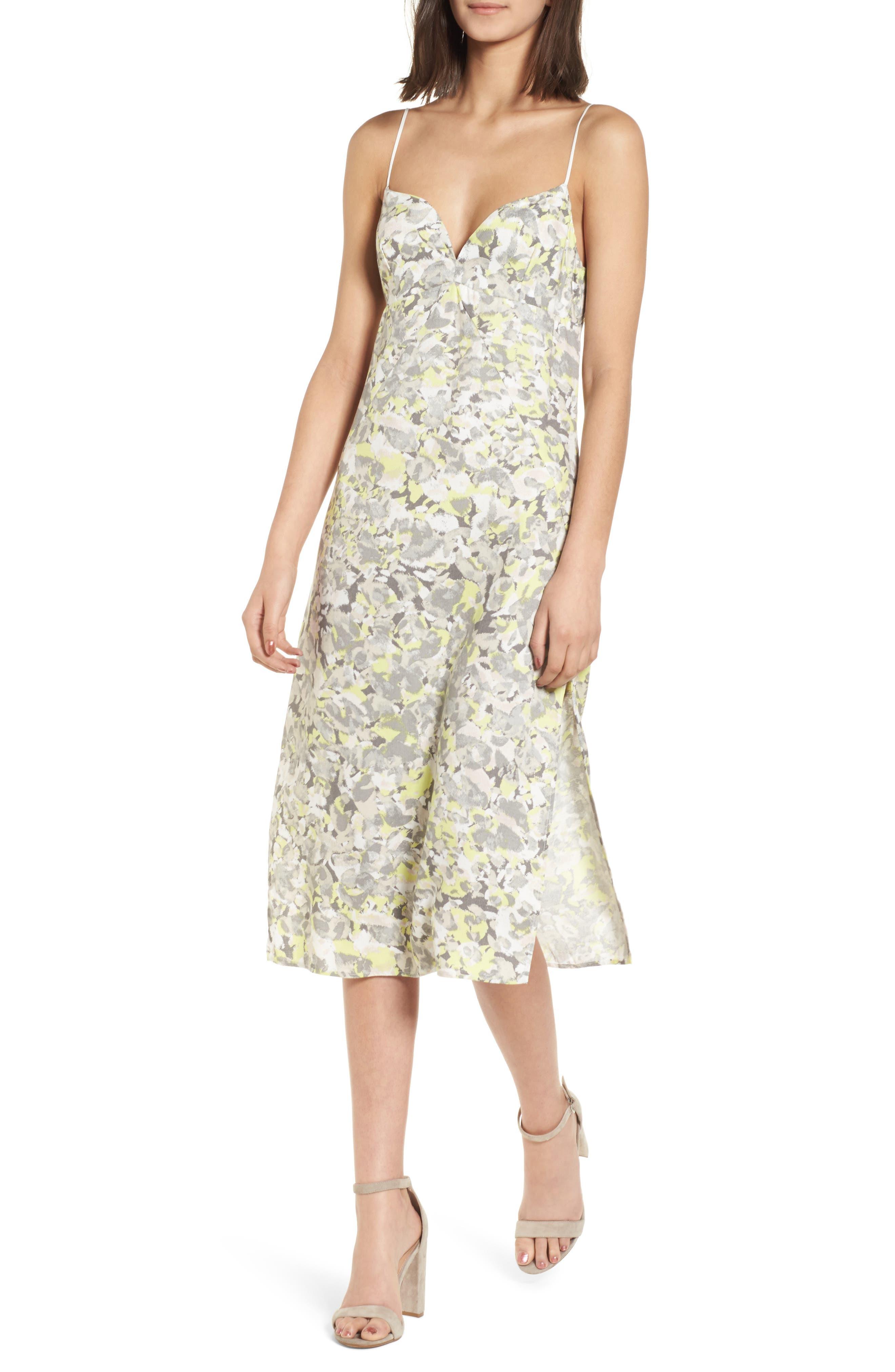 Skylight Camisole Dress,                         Main,                         color, Yellow Glow