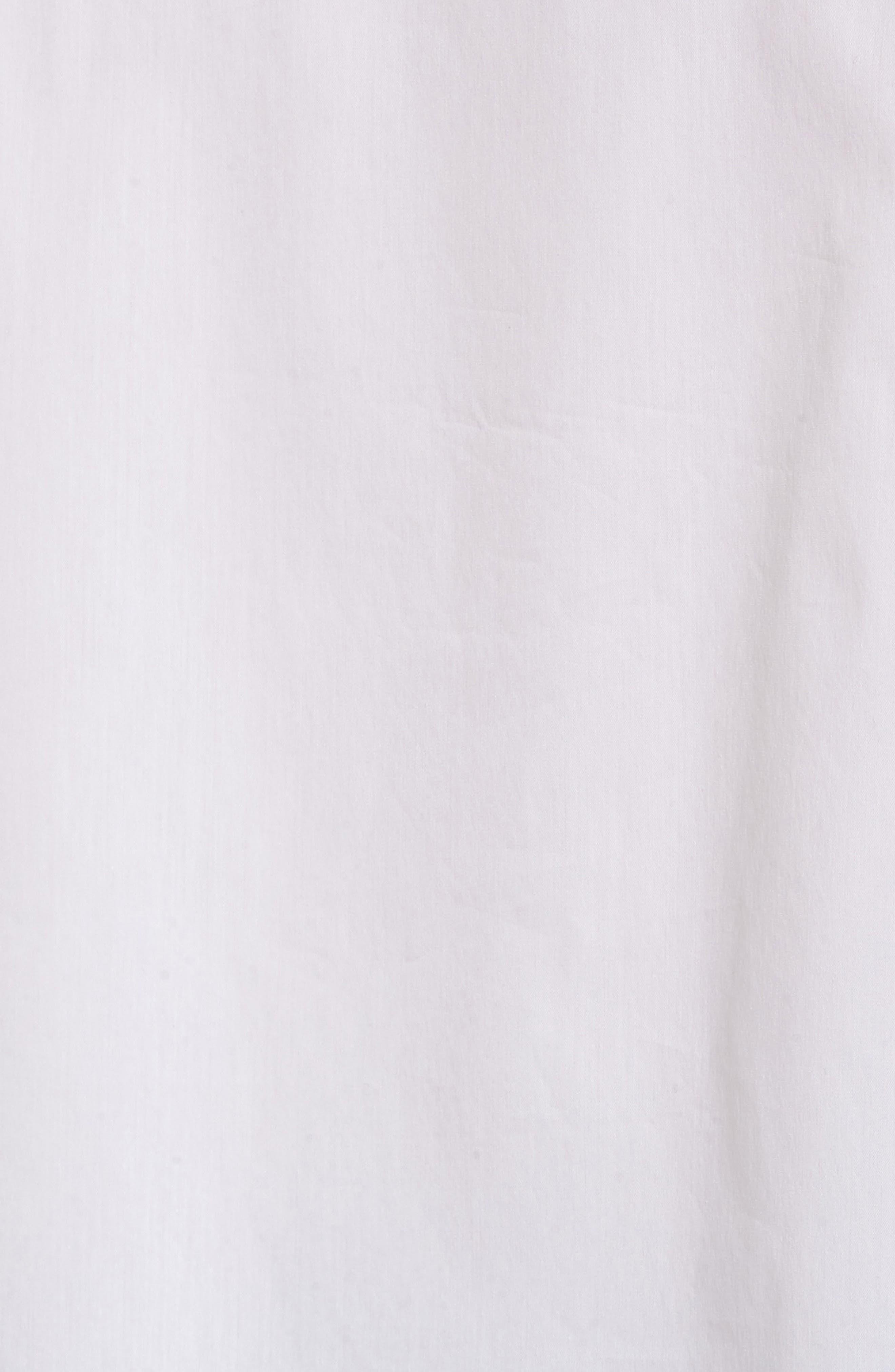 Ruffle Poplin Top,                             Alternate thumbnail 5, color,                             White