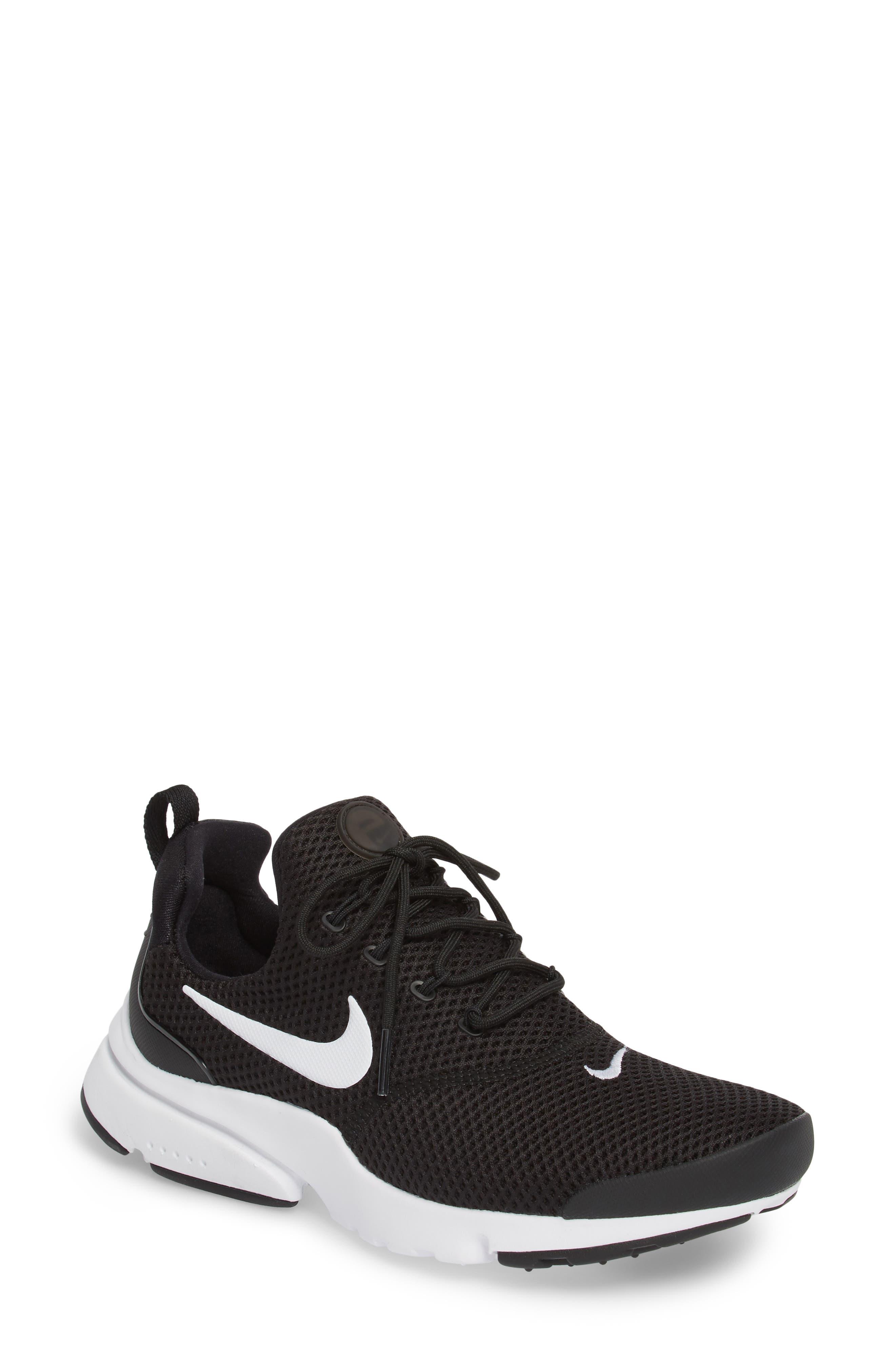 Presto Fly Sneaker,                         Main,                         color, Black/ White/ White